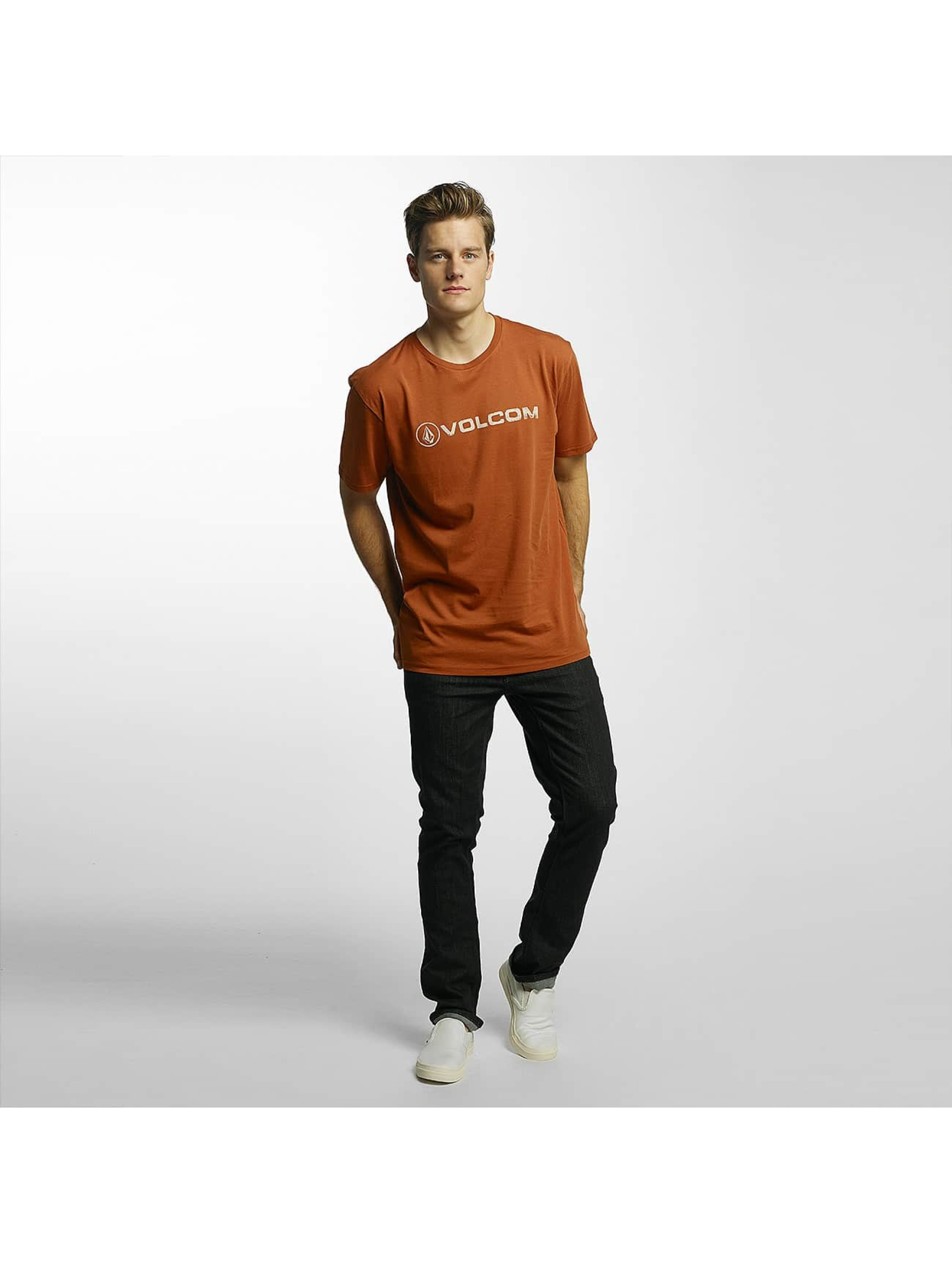 Volcom T-shirt Line Euro Basic marrone