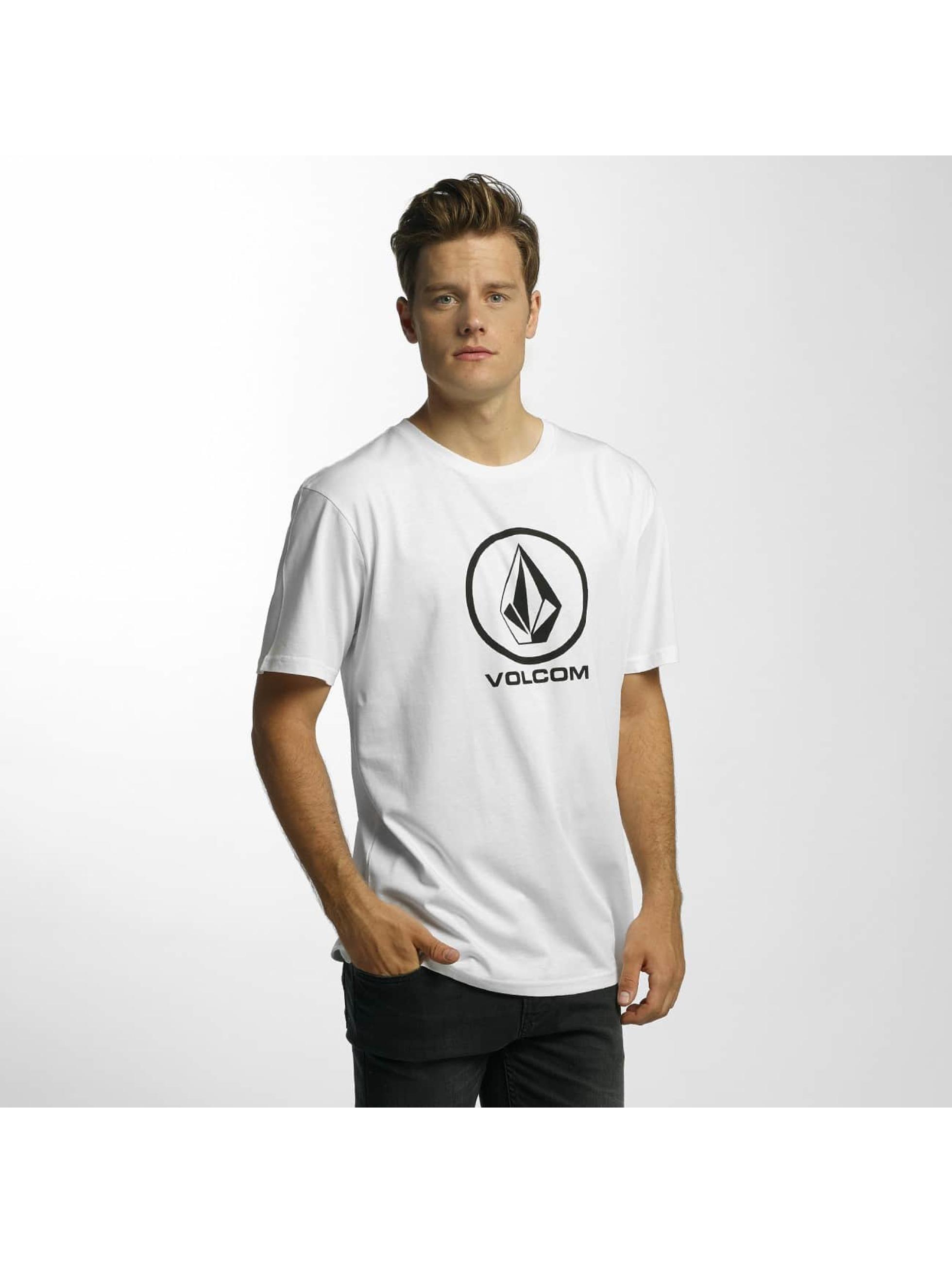 Volcom T-Shirty Circle Stone Basic bialy