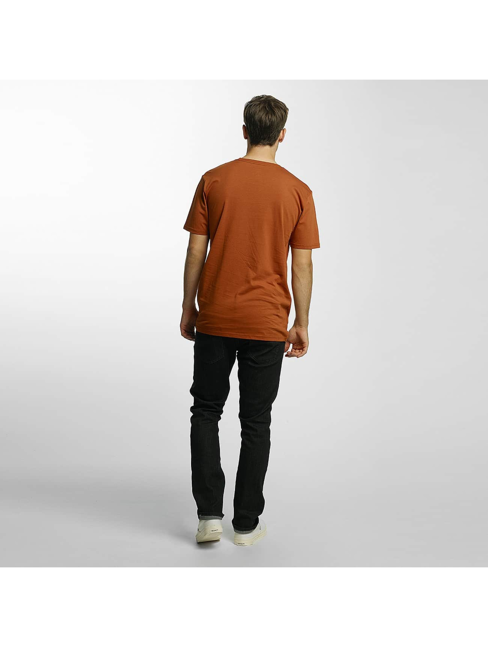 Volcom T-Shirty Line Euro Basic brazowy