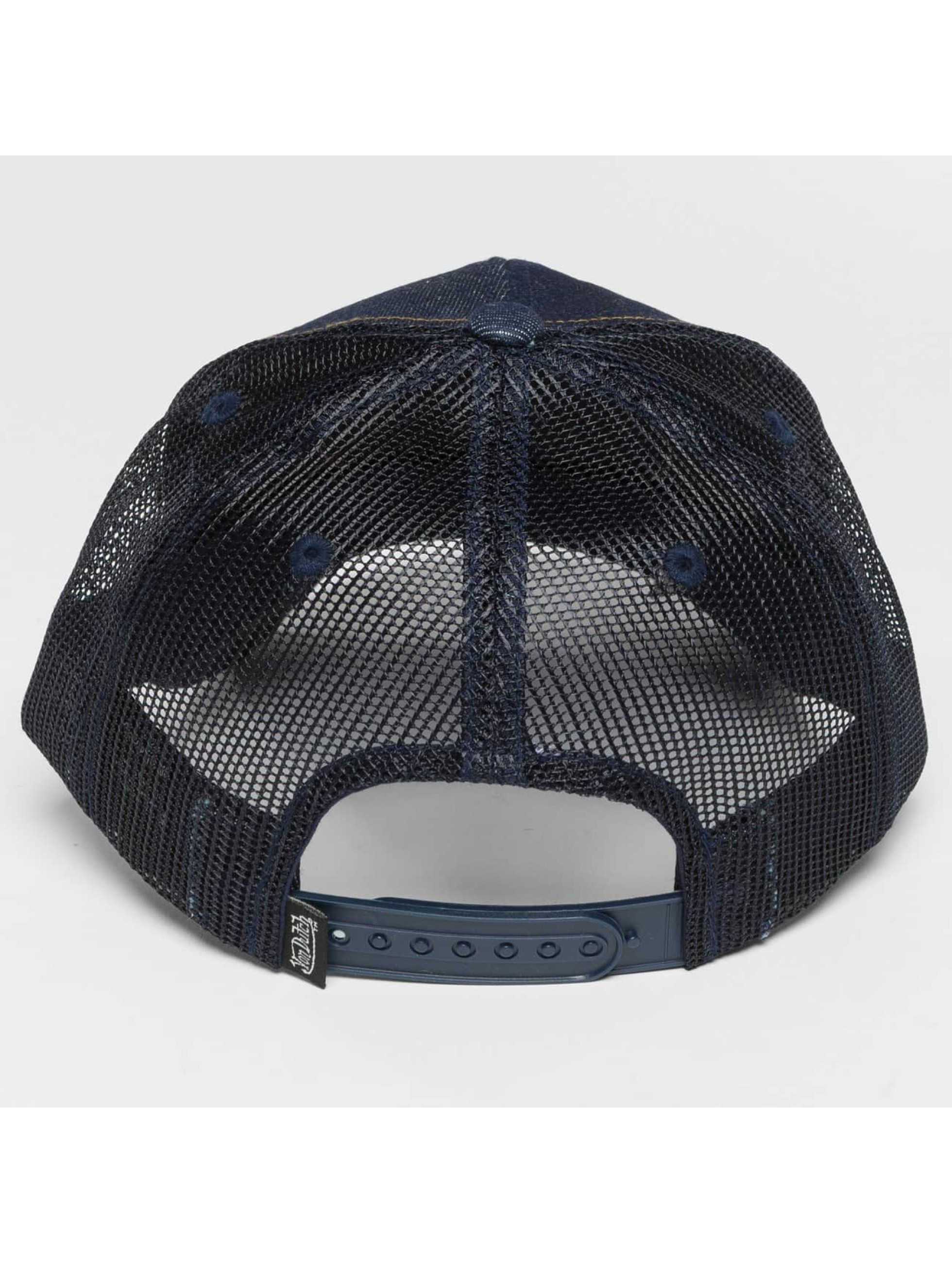 Von Dutch Casquette Trucker mesh Destroyed bleu