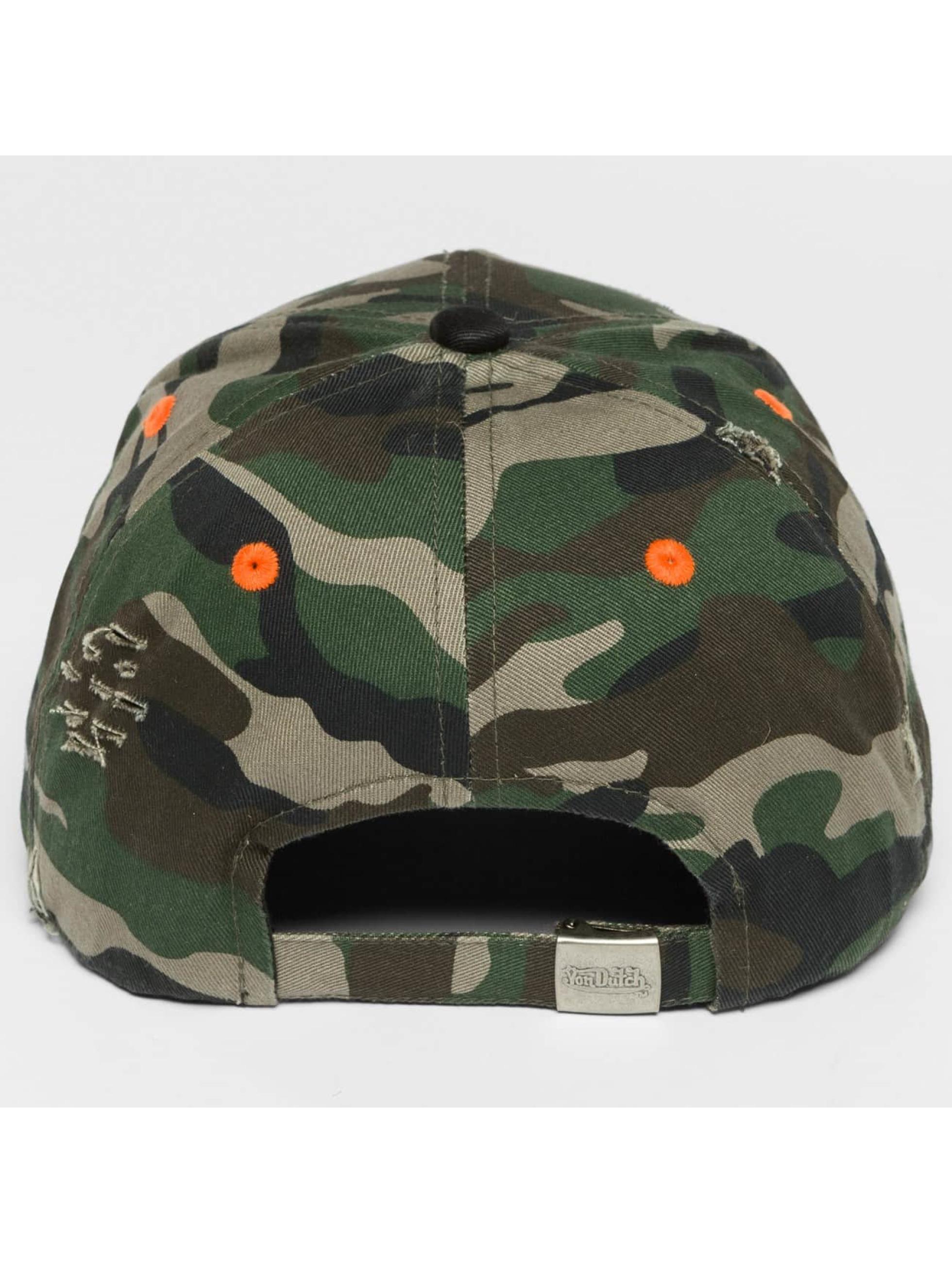 Von Dutch snapback cap Camo Destroyed camouflage
