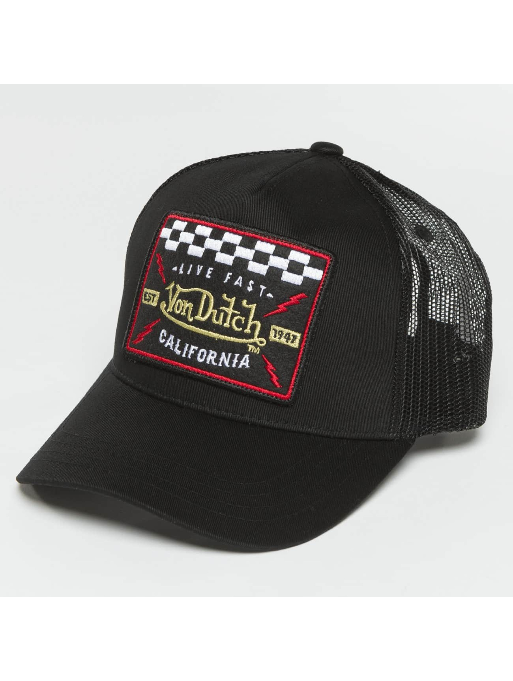 Von Dutch Trucker Cap Live Fast black