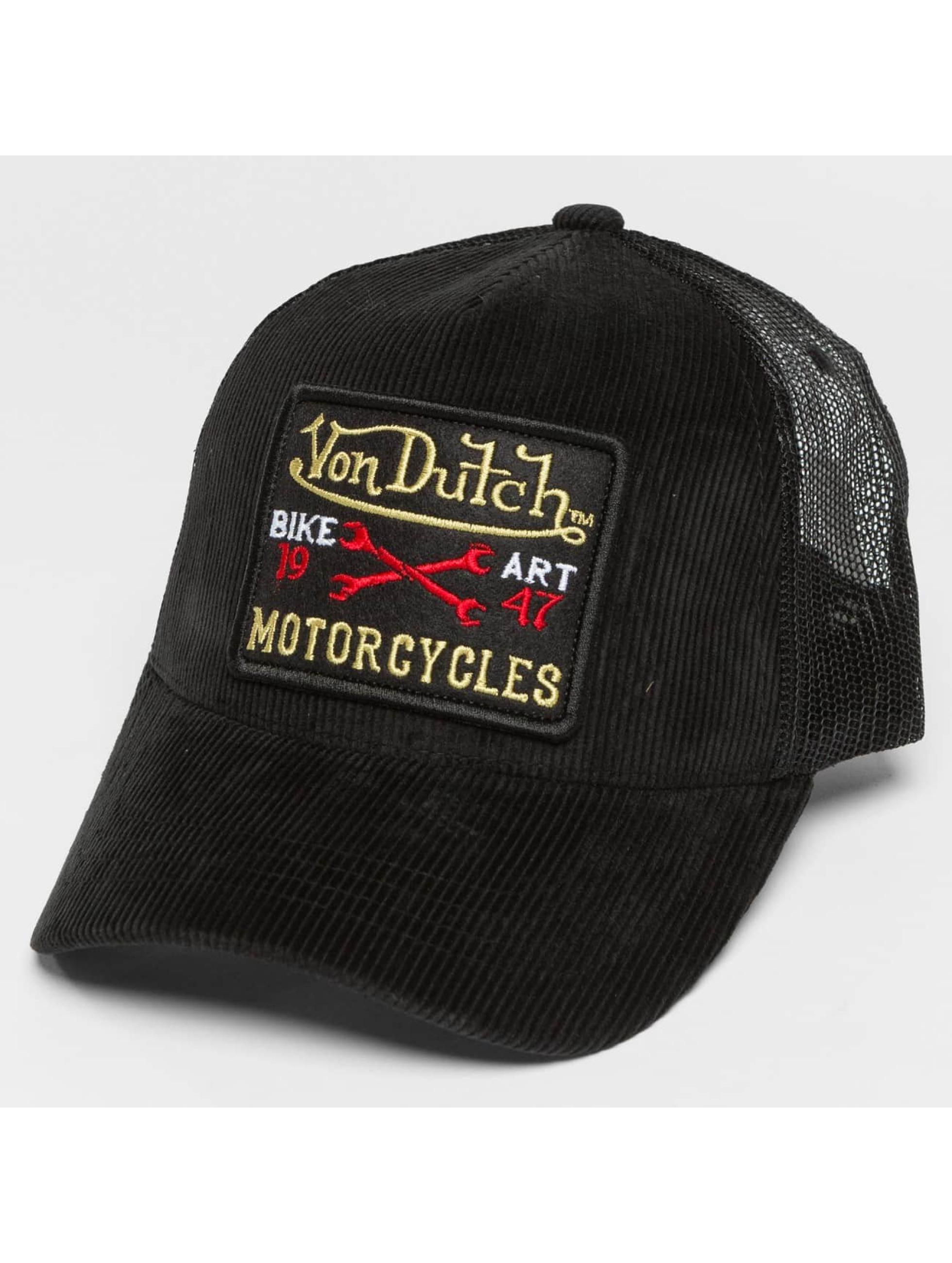 Von Dutch trucker cap Cord zwart