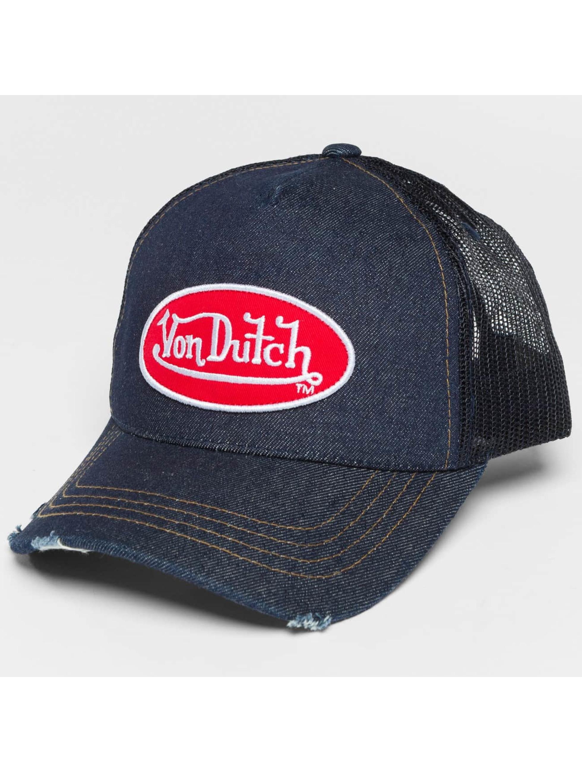 Von Dutch Trucker Caps Destroyed blå