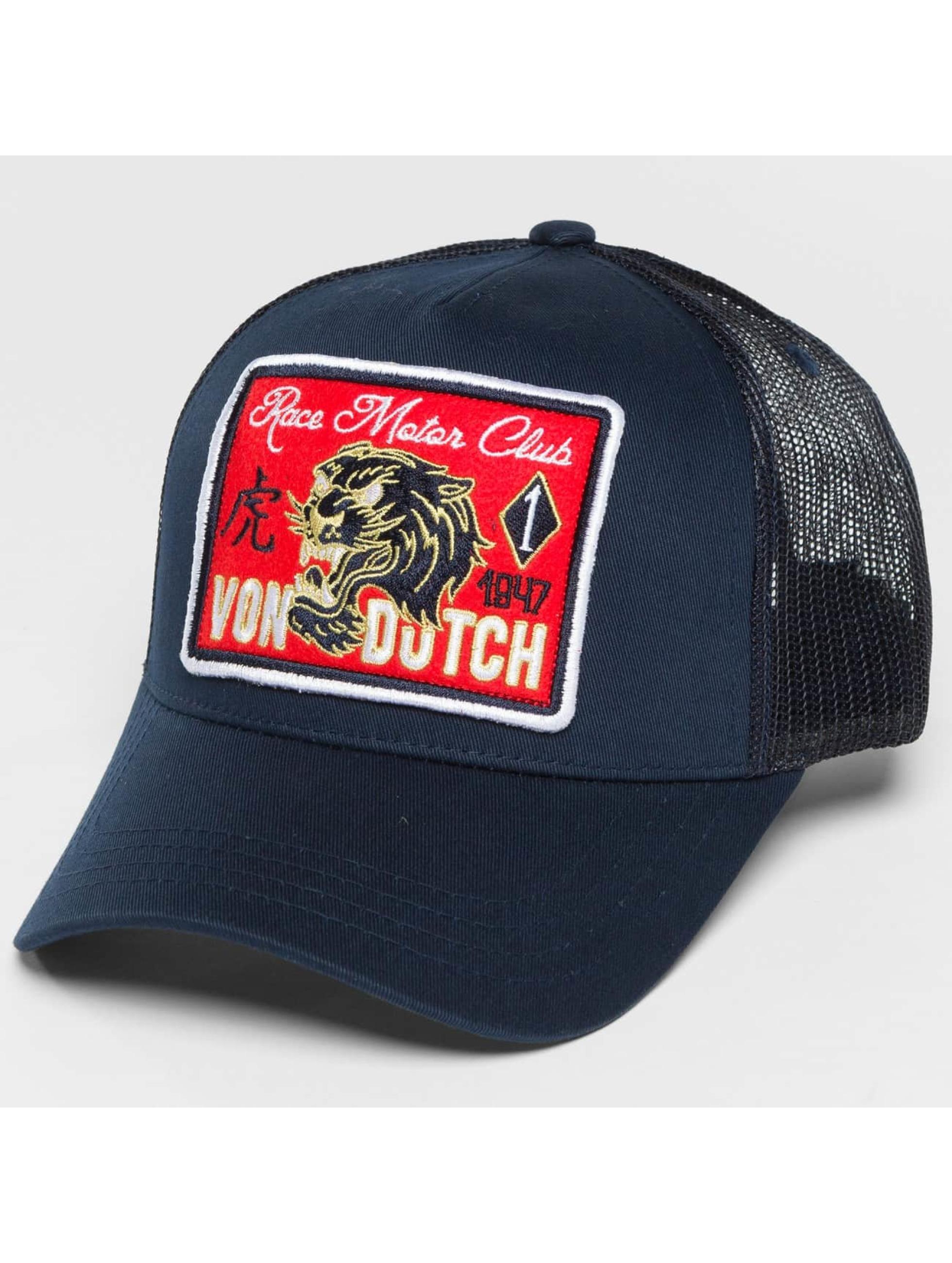 Von Dutch Trucker Caps Tiger niebieski