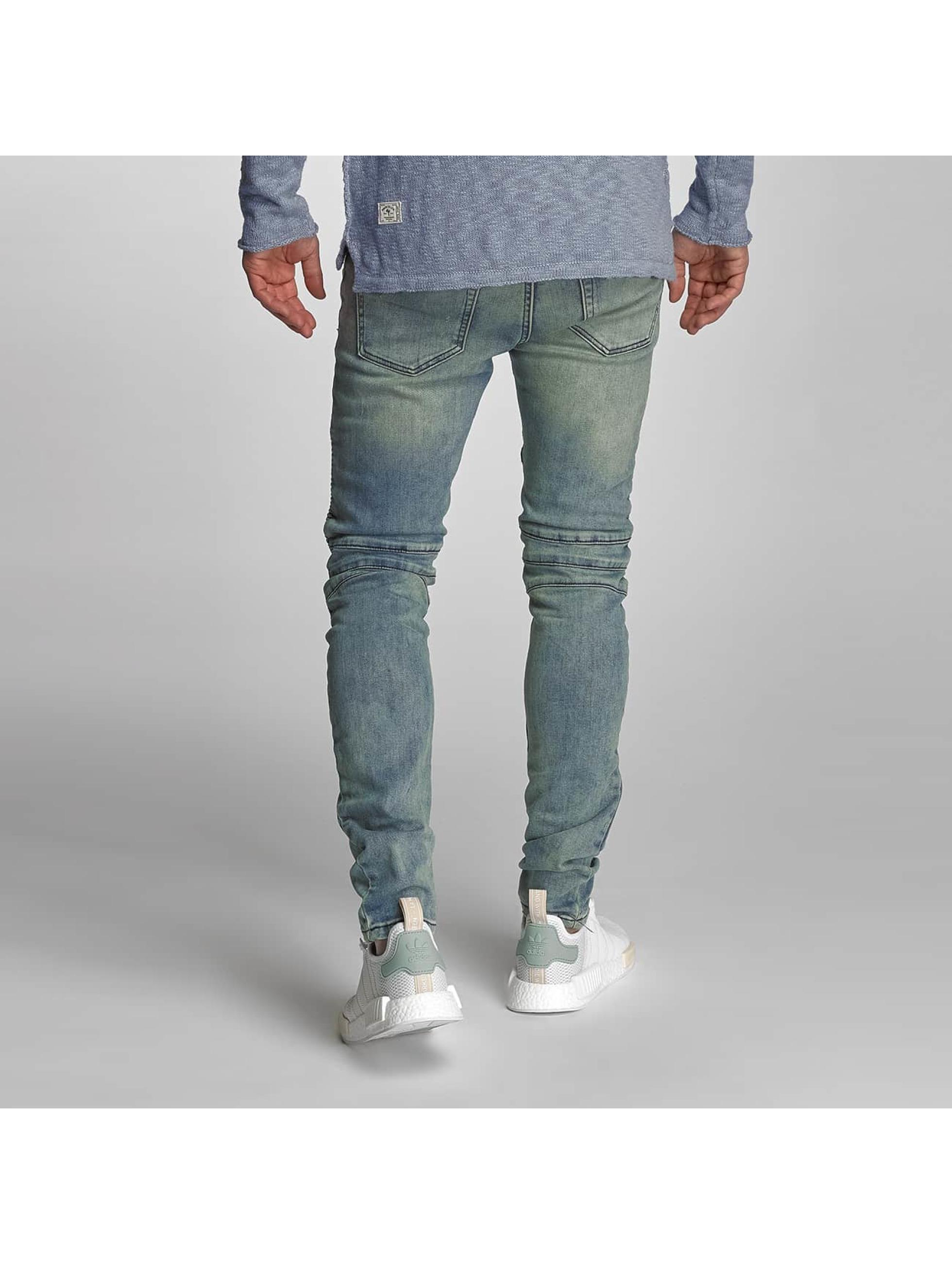 VSCT Clubwear Úzke/Streč Liam Biker modrá