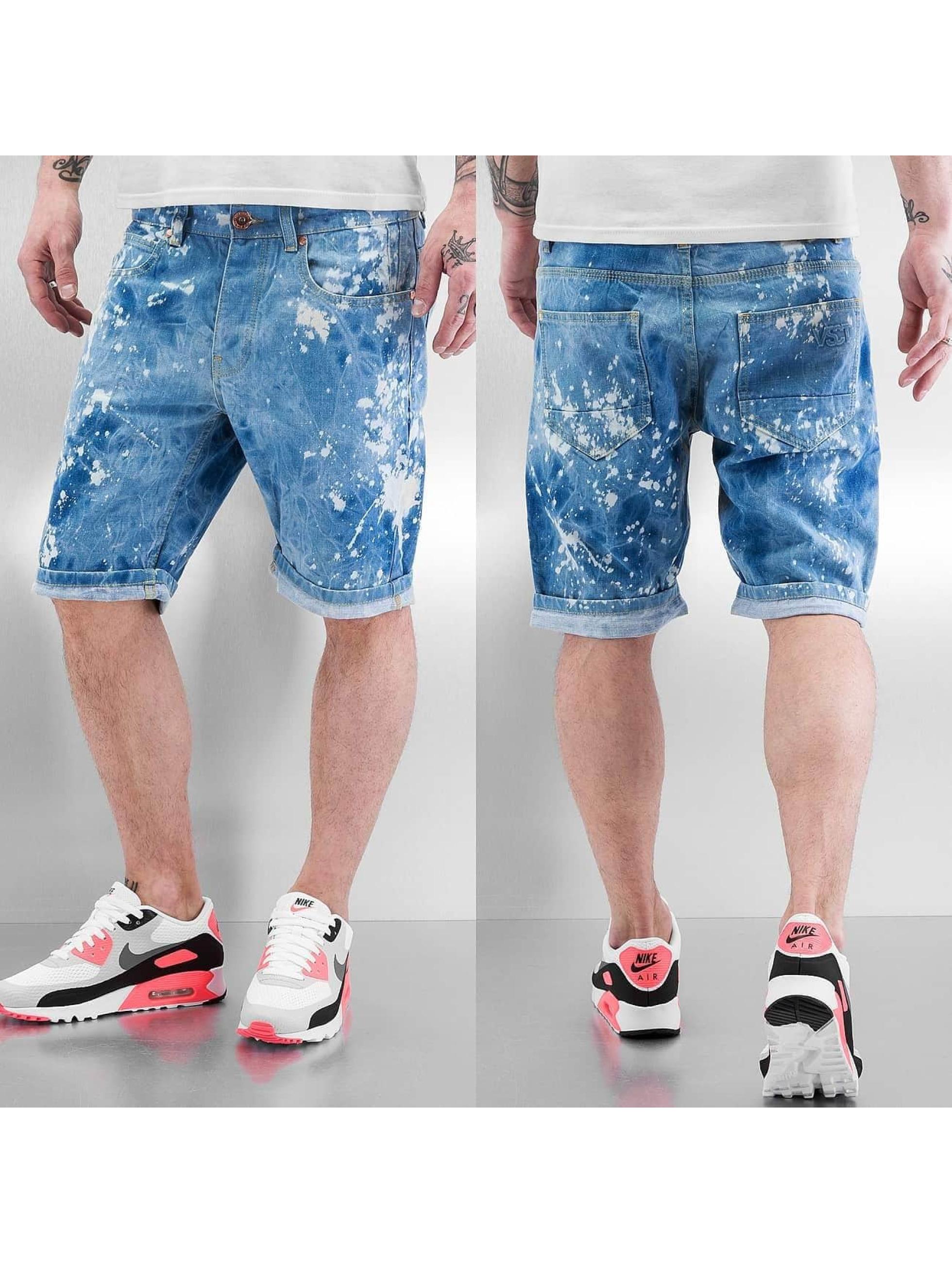 VSCT Clubwear Šortky Alec Bleached Bermuda modrá