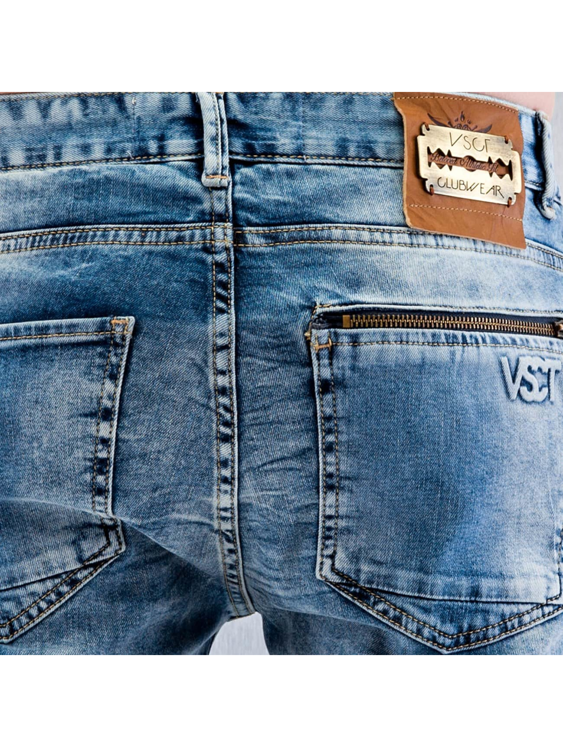 VSCT Clubwear Облегающие джинсы Lazer Racer синий