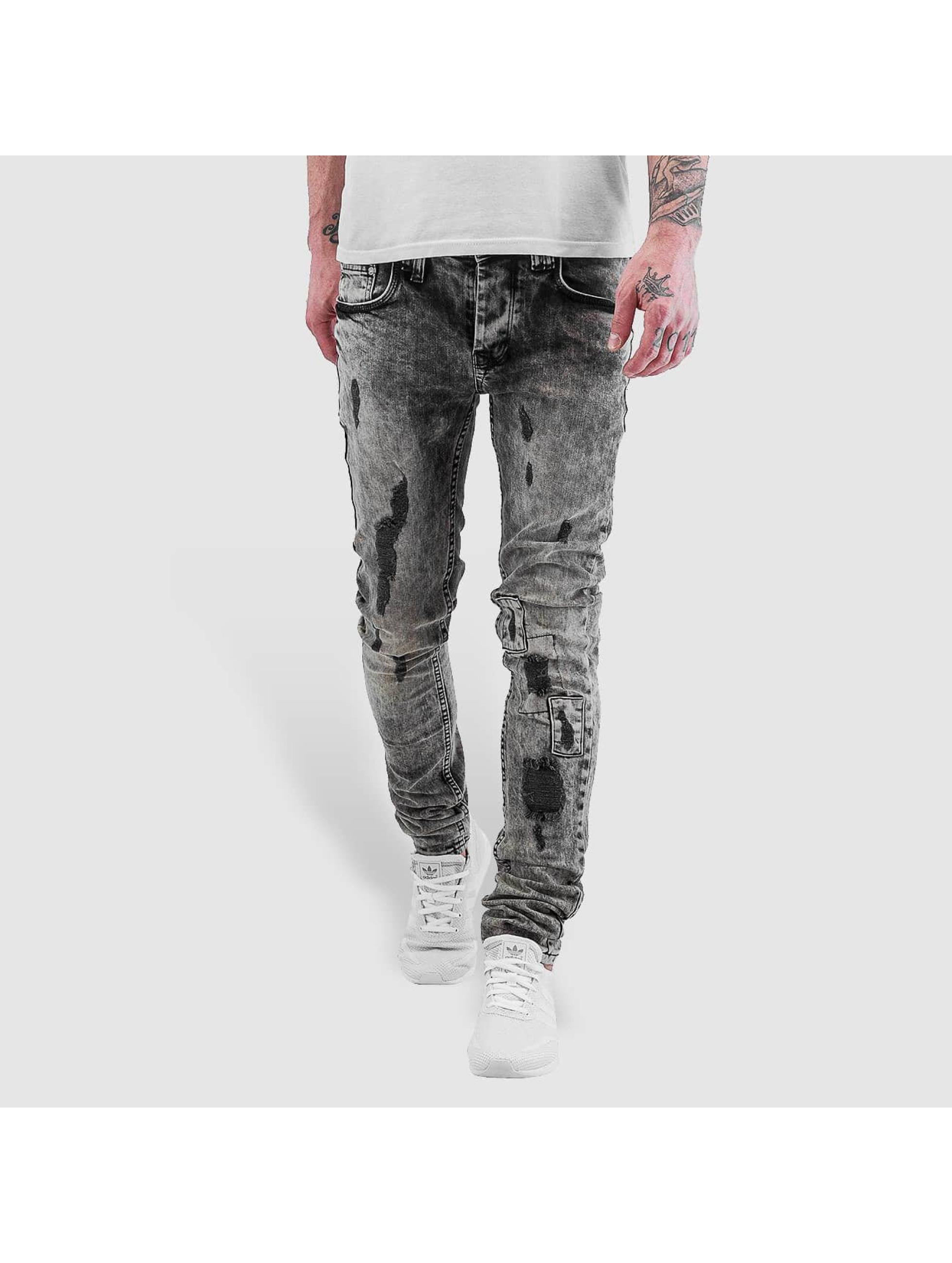 VSCT Clubwear Облегающие джинсы Alec Slim 5 Pocket черный