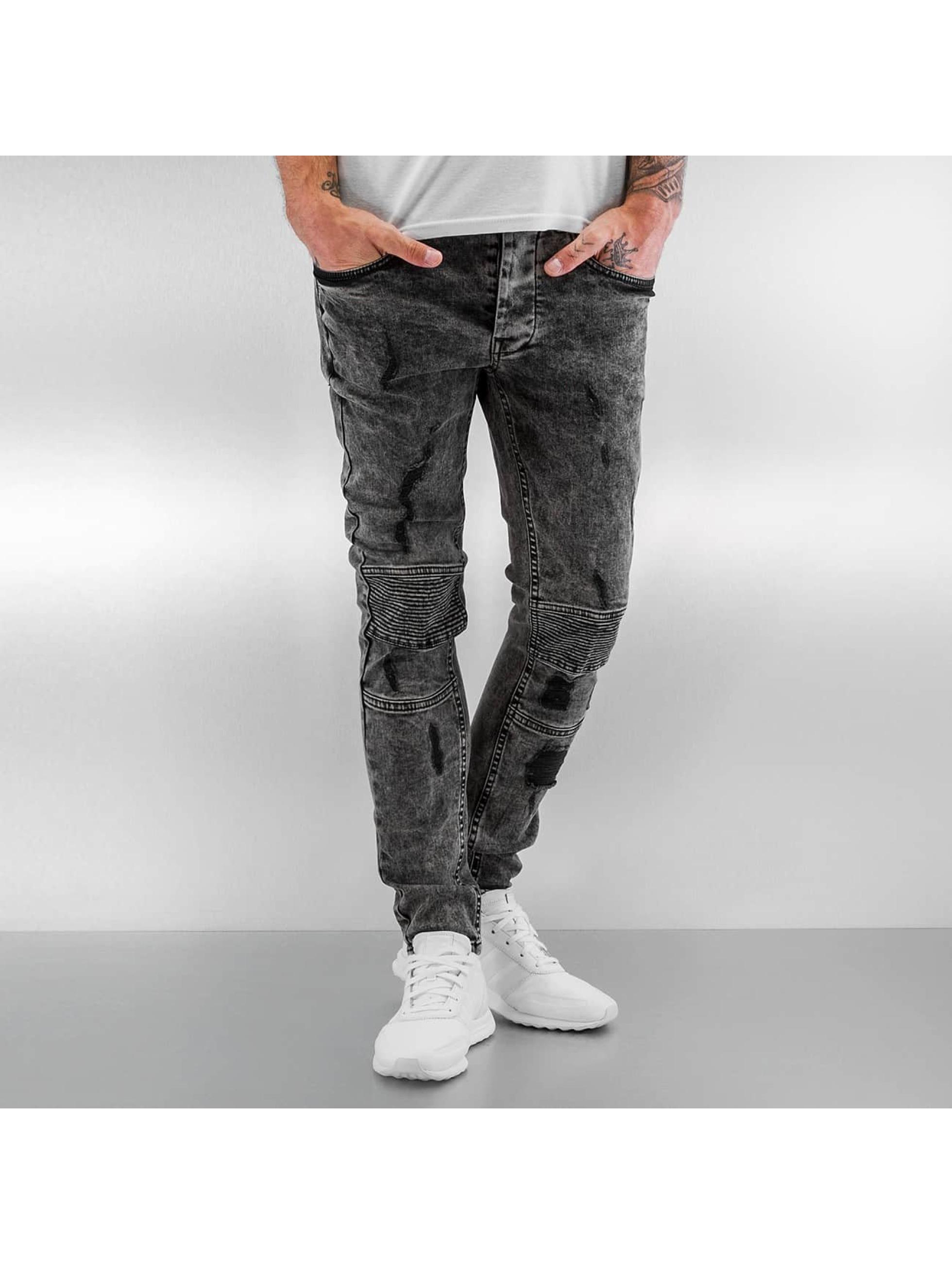 VSCT Clubwear Облегающие джинсы Lazer Racer черный