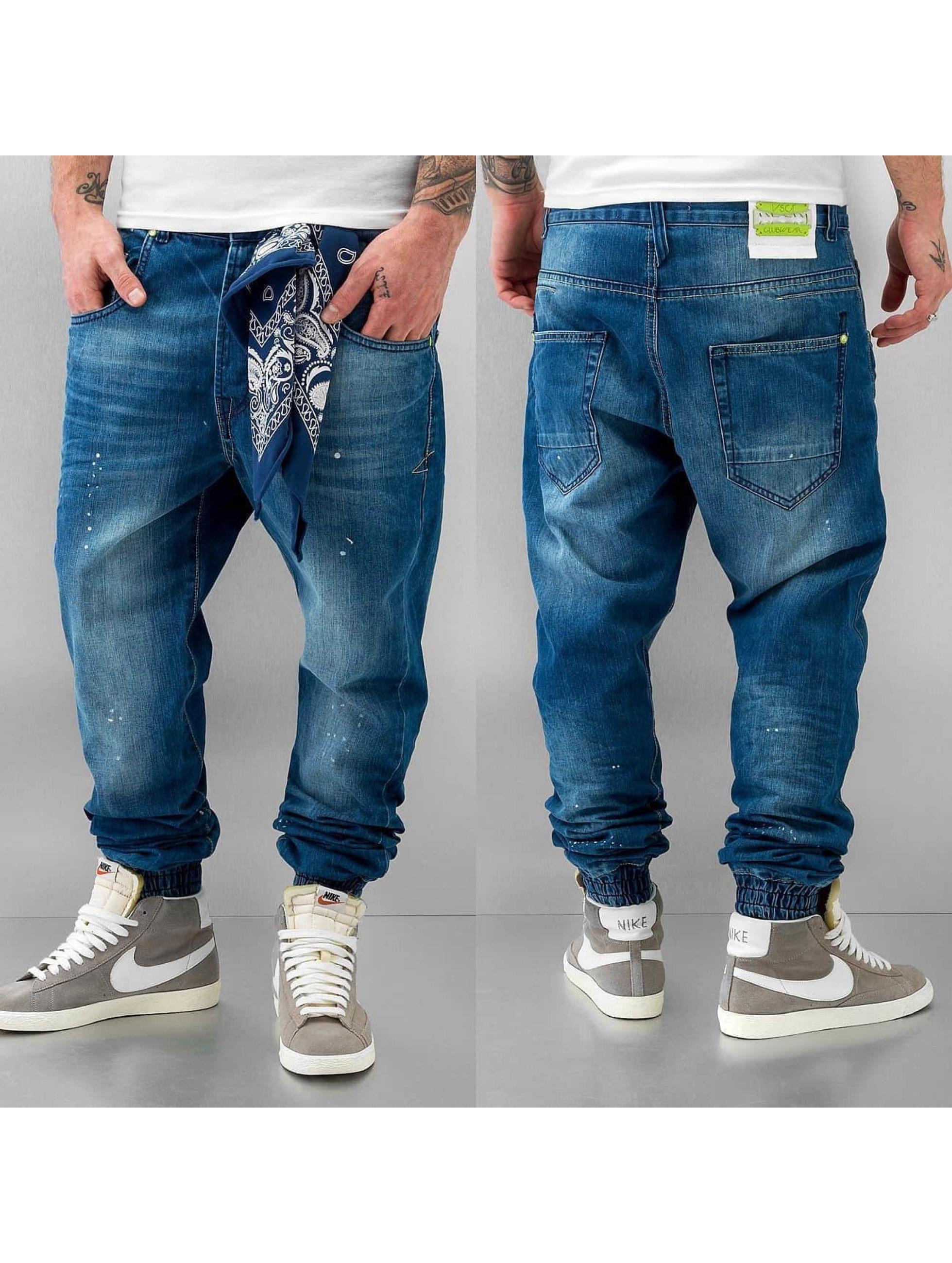 VSCT Clubwear Antifit Noah Cuffed Denim синий
