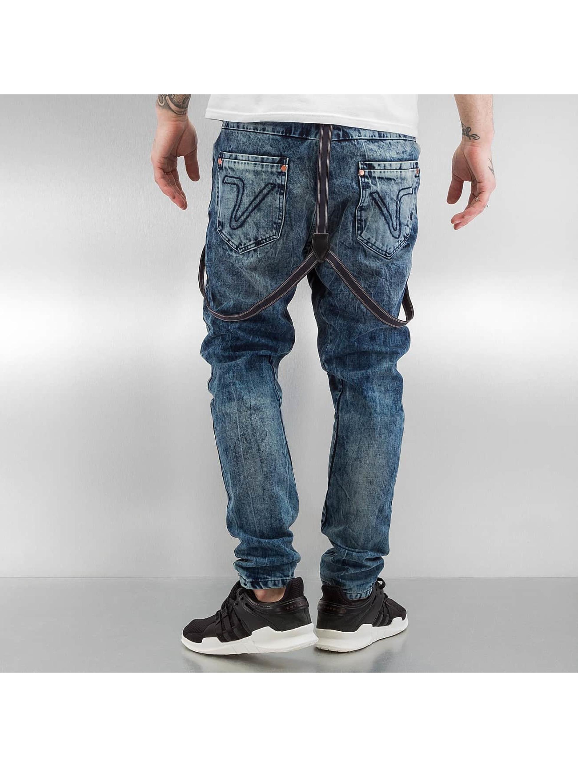 VSCT Clubwear Antifit Brad Slim with Supspenders синий