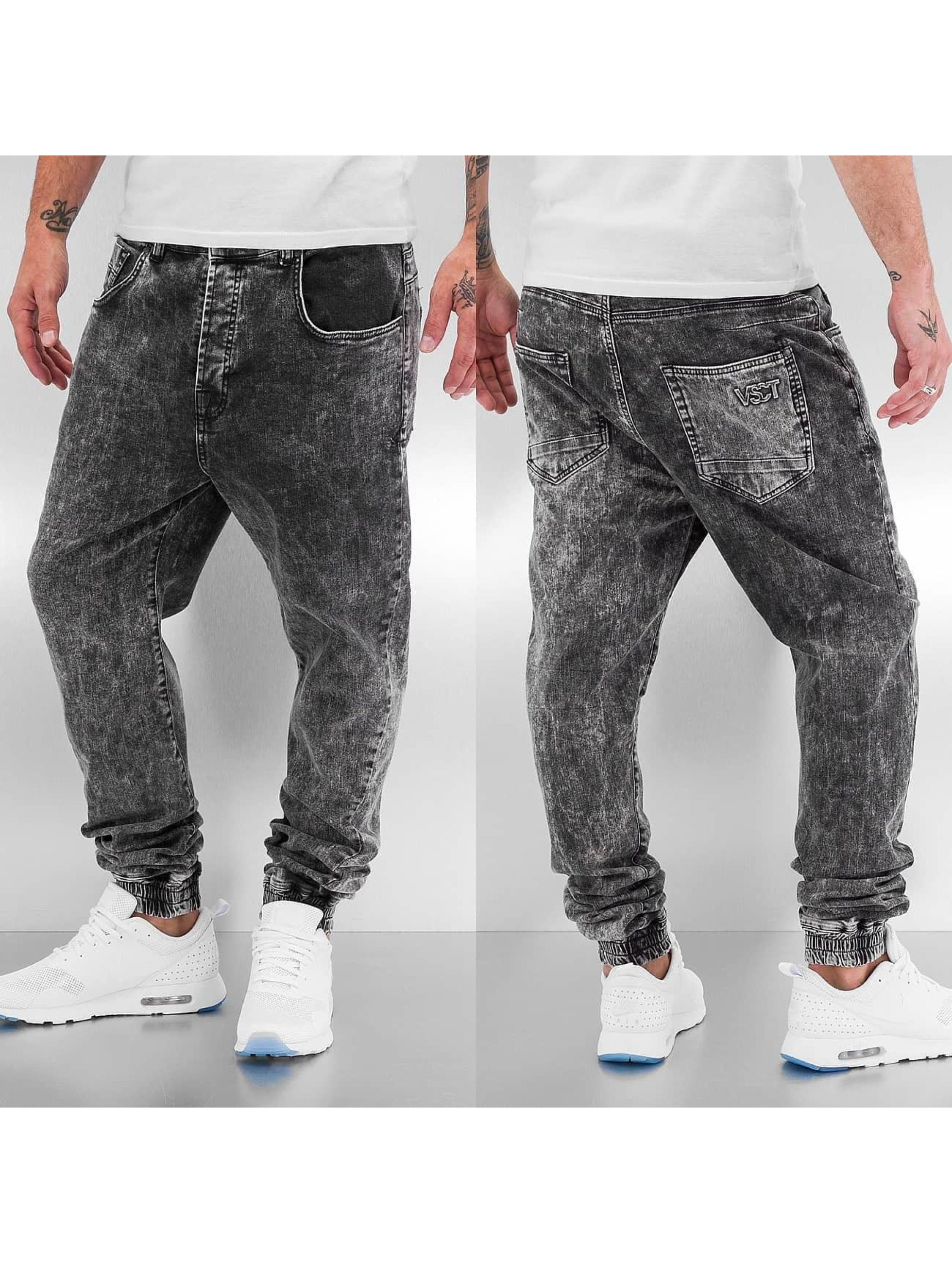 VSCT Clubwear Antifit-farkut Noah Slim Anti Fit Cuffed harmaa
