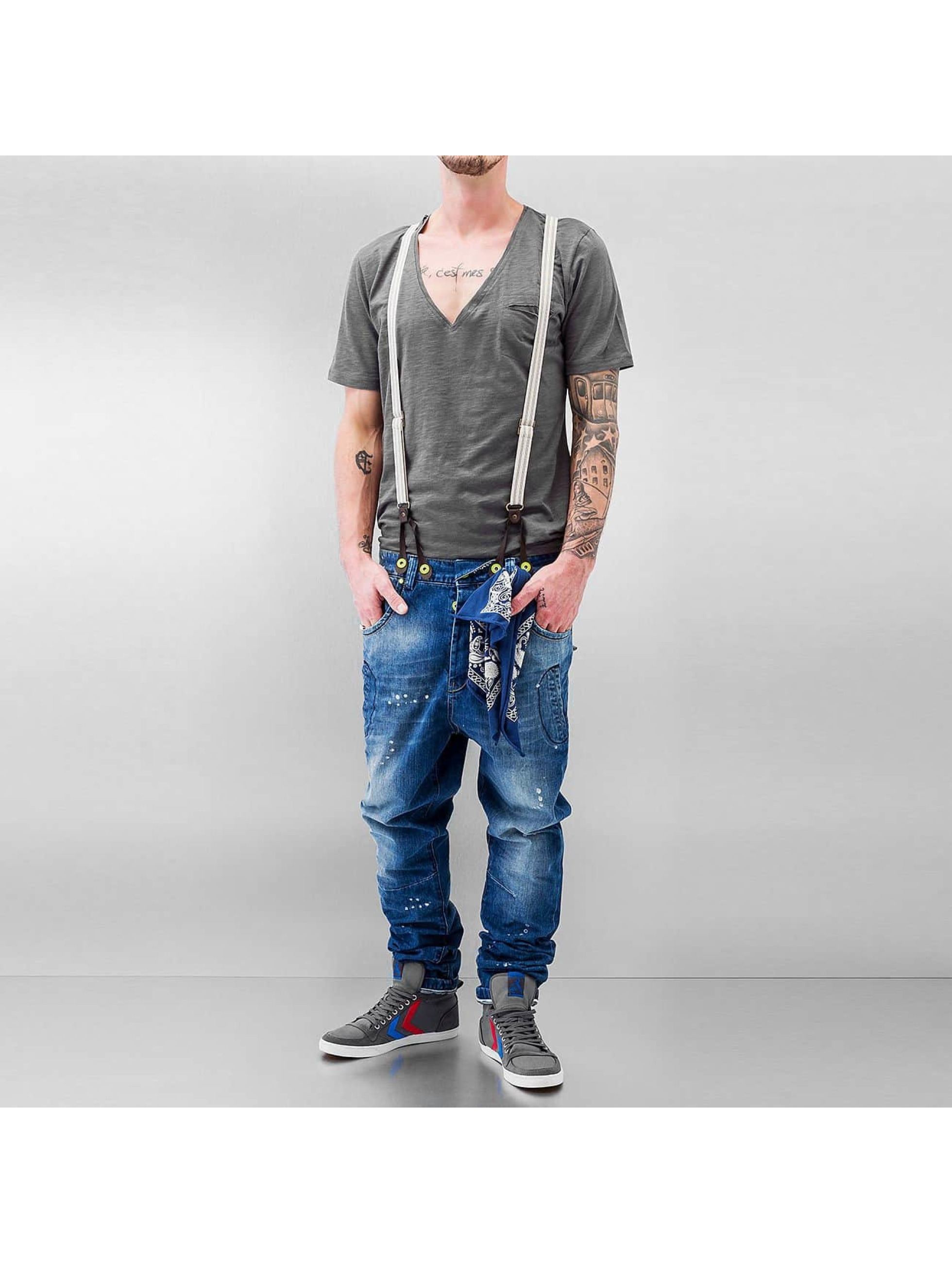VSCT Clubwear Antifit-farkut Brad Denim with Suspenders sininen