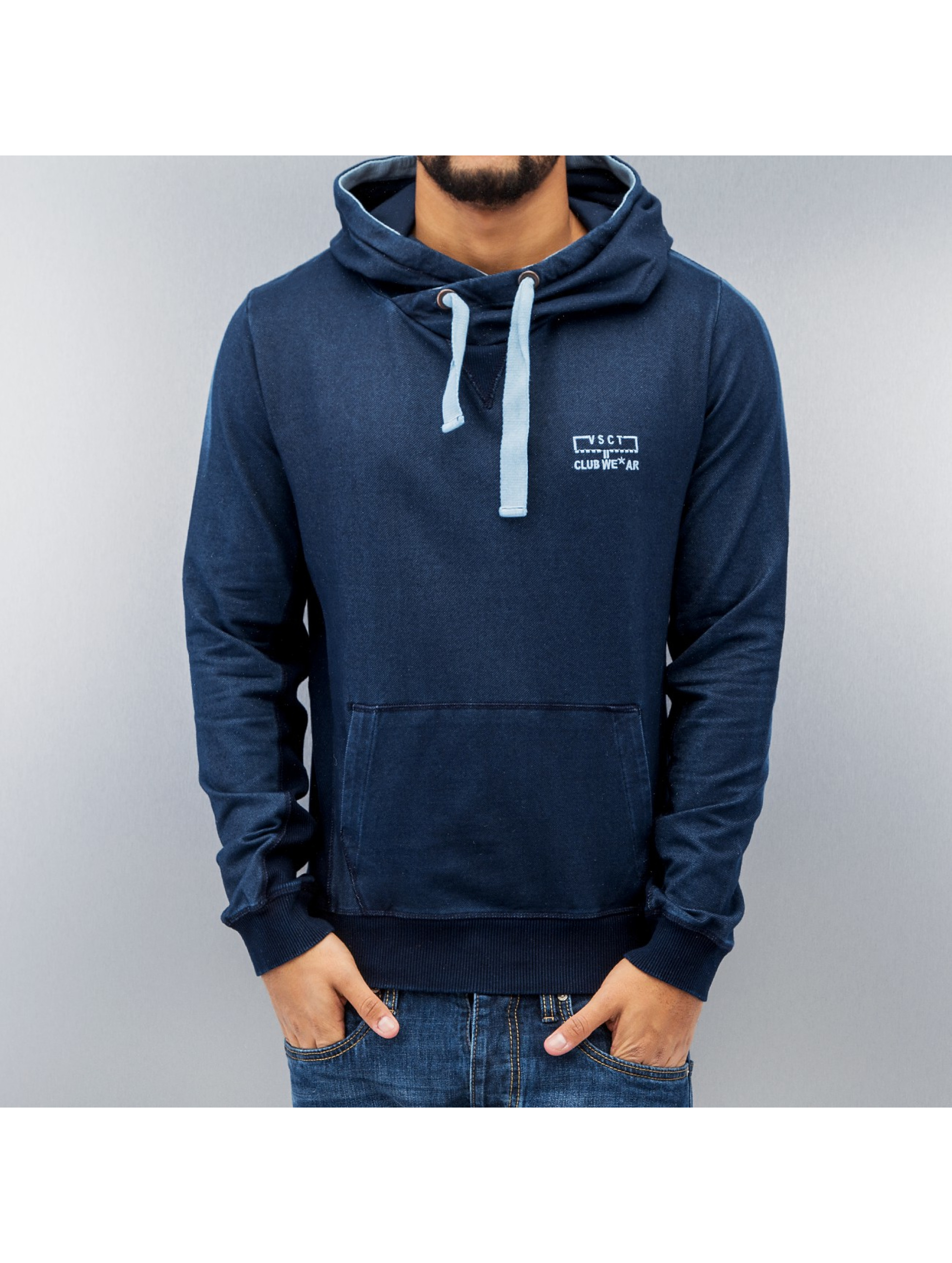 VSCT Clubwear Hoody Twisted blau