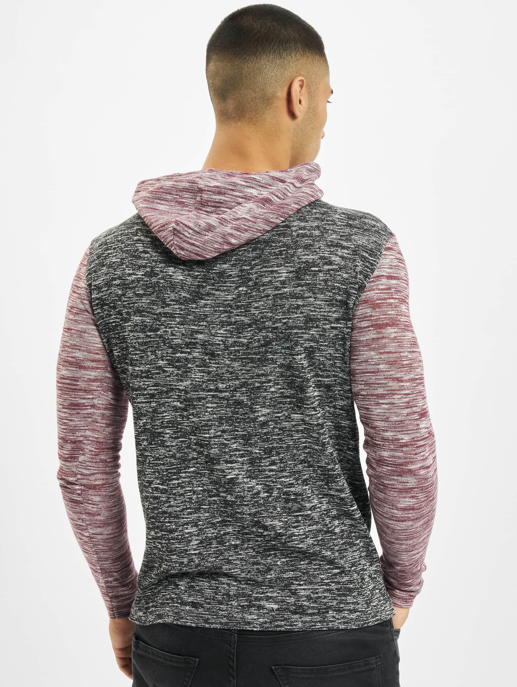 VSCT Clubwear Hoody 2 Btn Hooded Moulinee 2 Colour rot