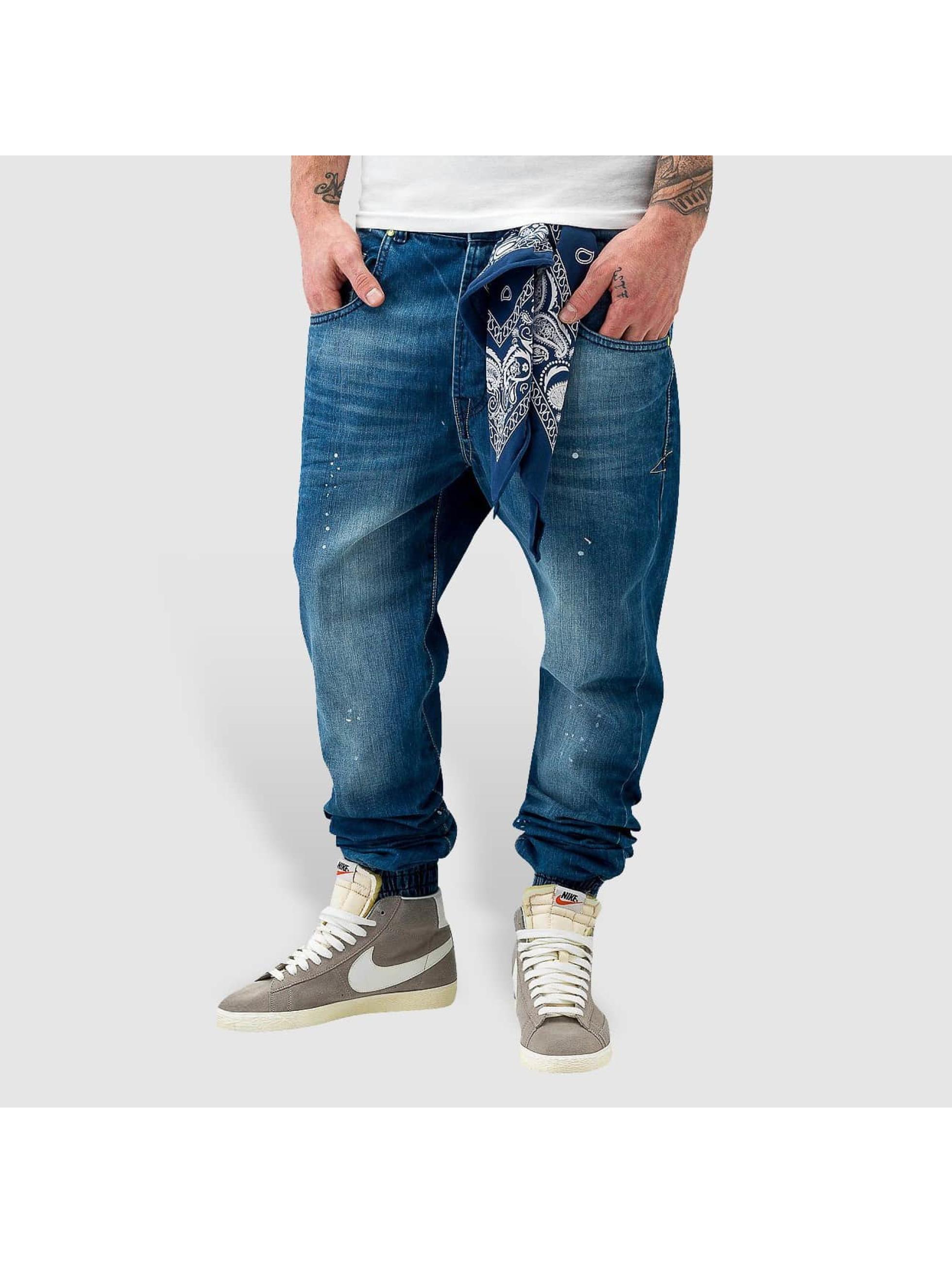 VSCT Clubwear Jean carotte antifit Noah Cuffed Denim bleu
