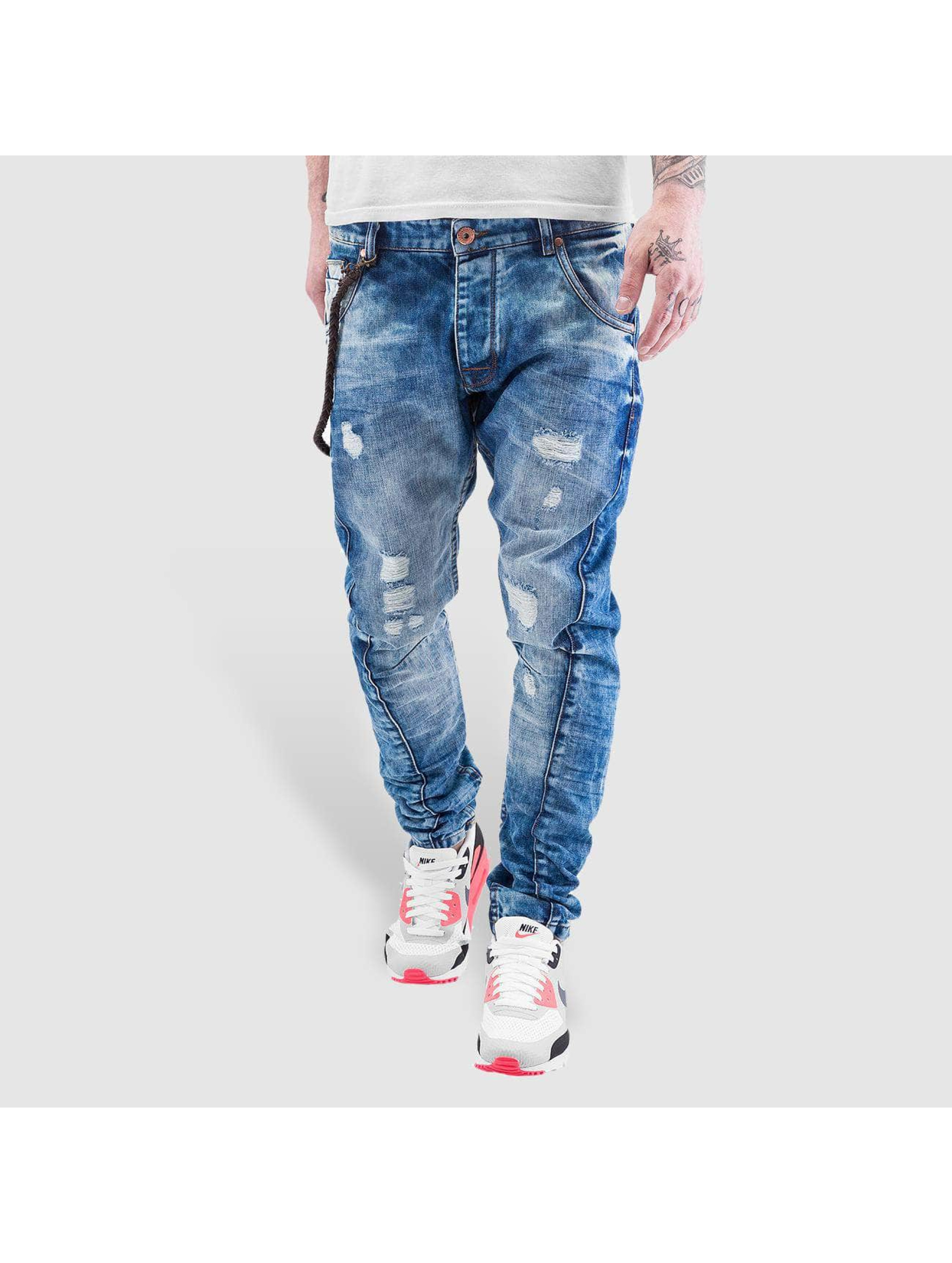 VSCT Clubwear Jean carotte antifit Hank Acid Slim Twisted bleu