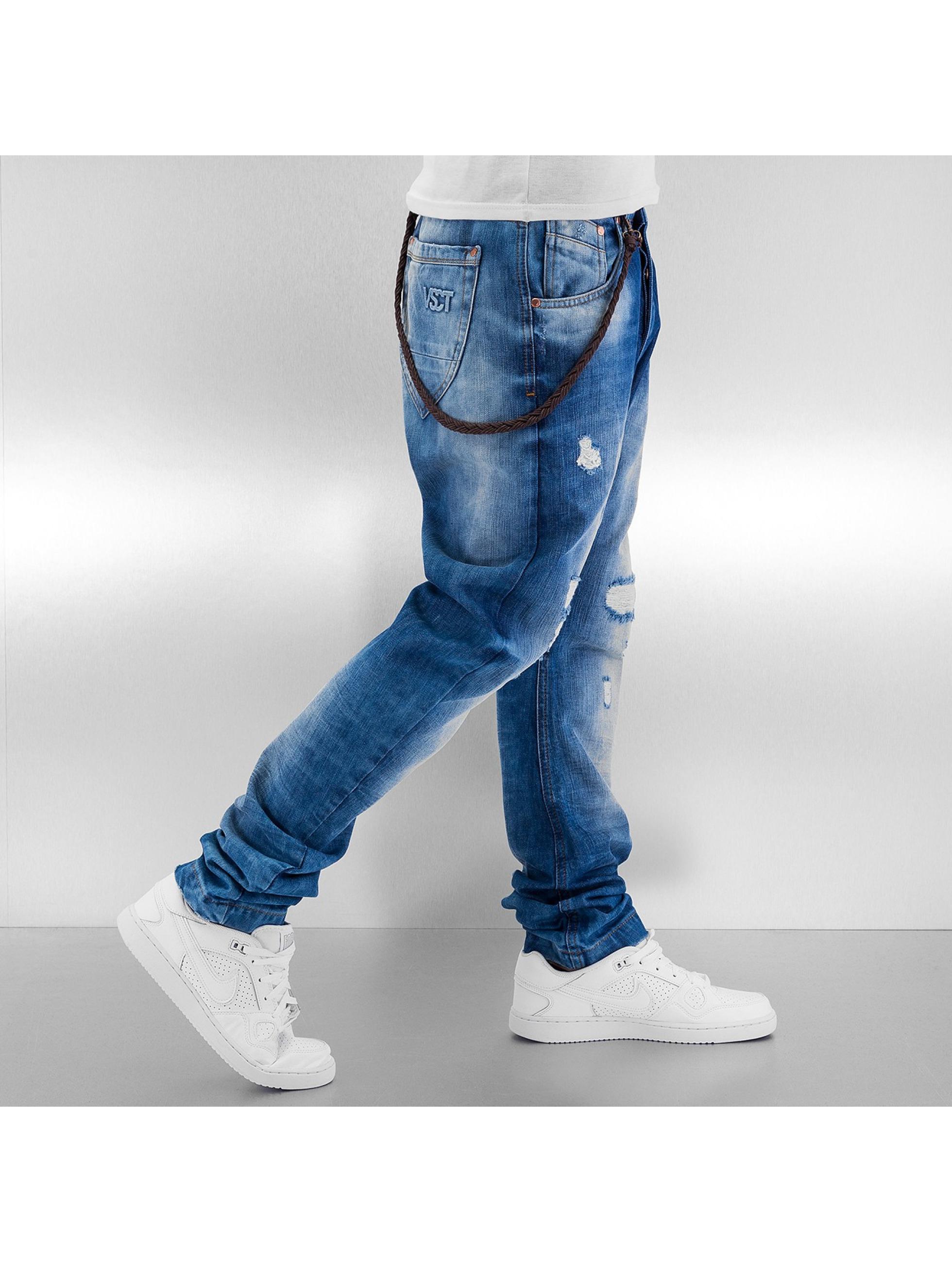 VSCT Clubwear Jean carotte antifit Spencer Low Crotch bleu