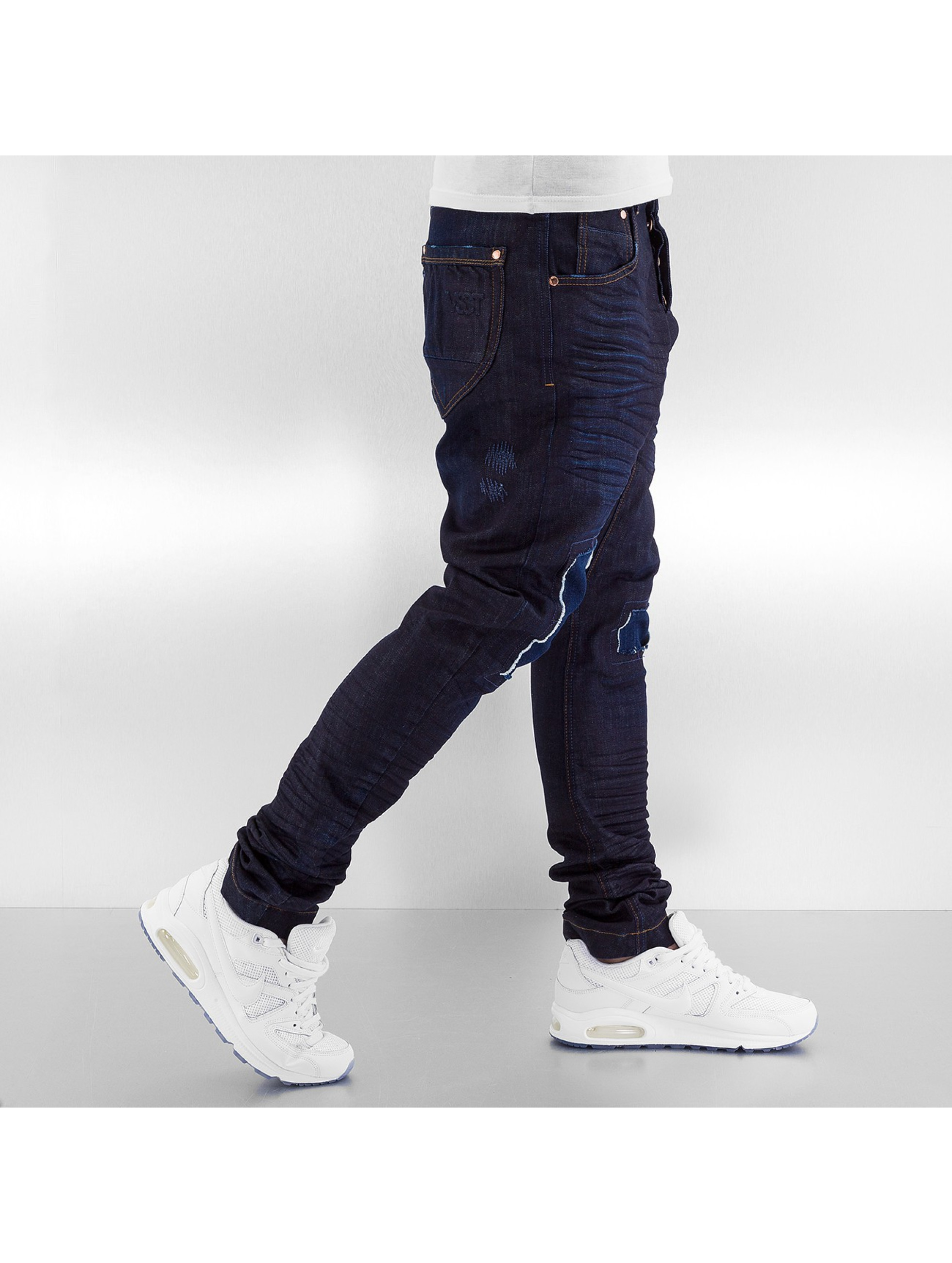 VSCT Clubwear Jean carotte antifit Spencer Low Crotch bleu