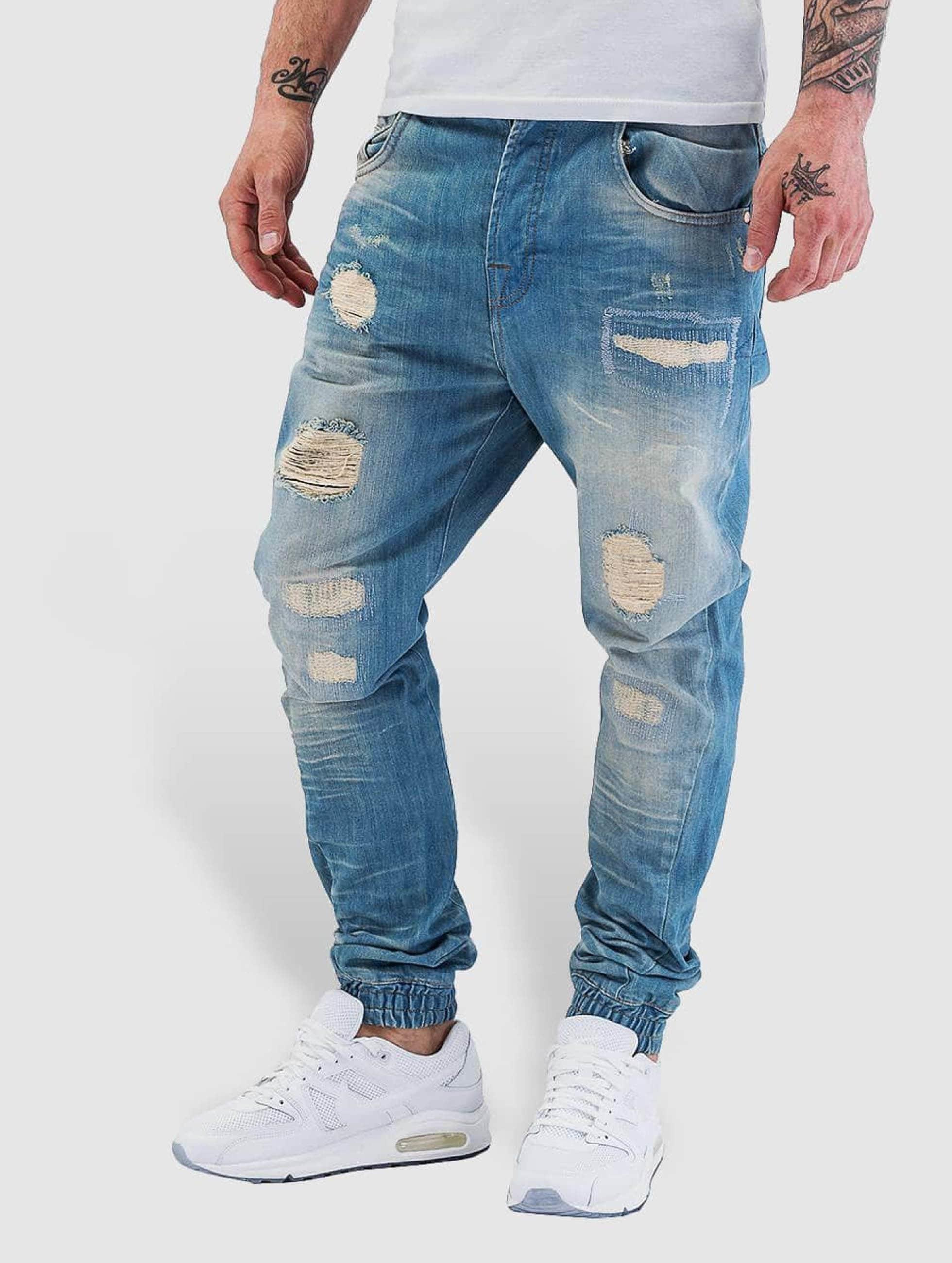 VSCT Clubwear Jean carotte antifit Noah Cuffed bleu