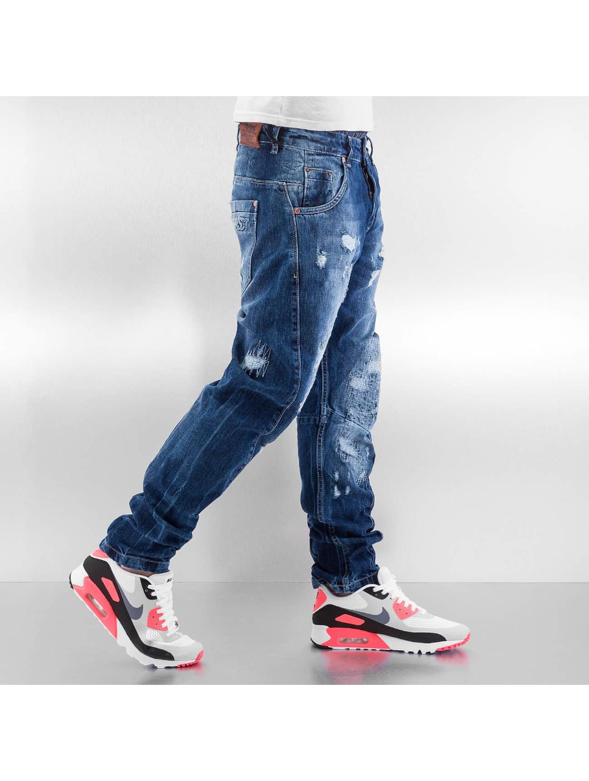 VSCT Clubwear Jean carotte antifit Hank Twisted bleu