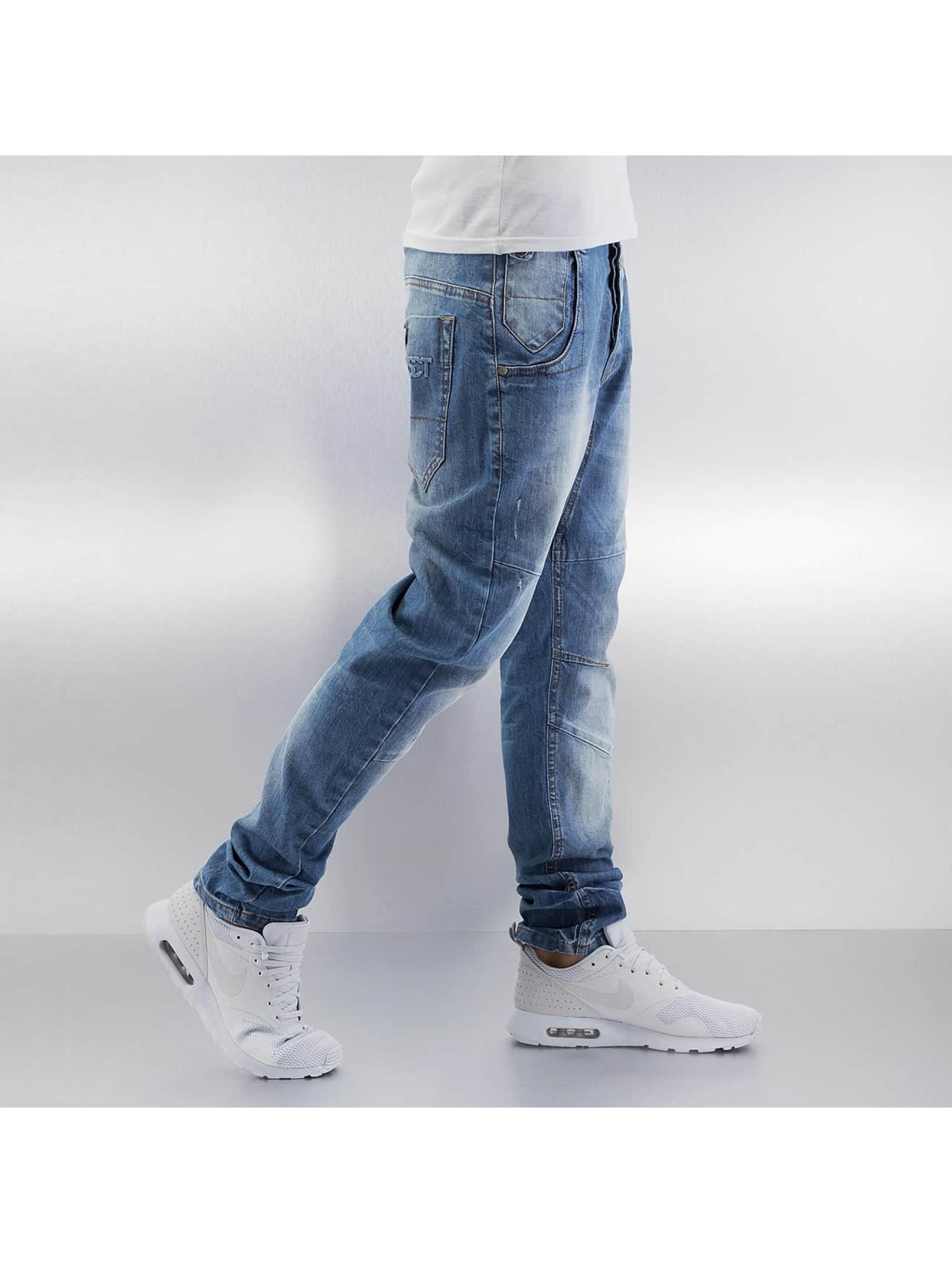 VSCT Clubwear Jean carotte antifit Dan Deep Crotch O-Leg bleu