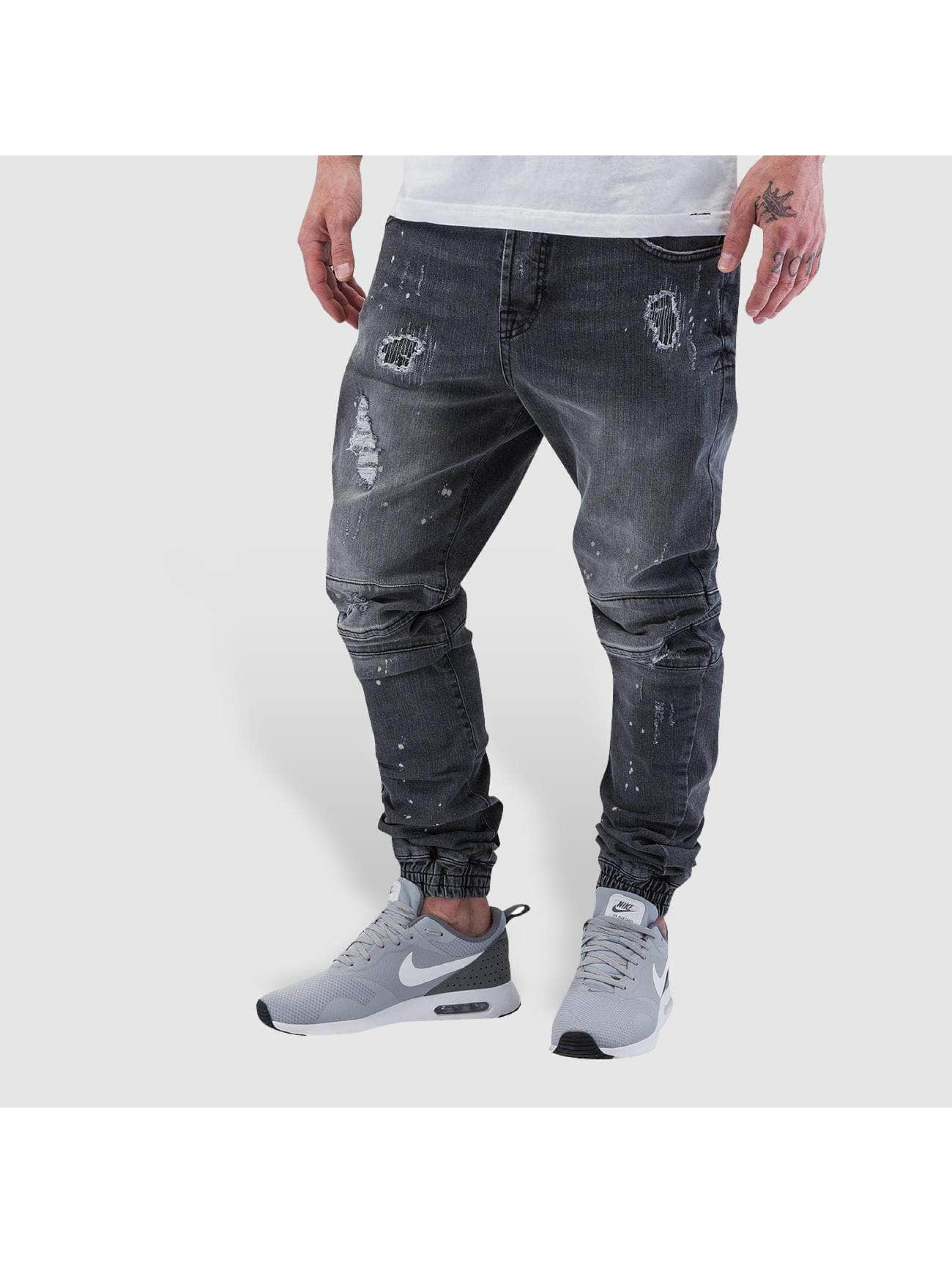 VSCT Clubwear Jean carotte antifit Norton Cuffed Slim gris