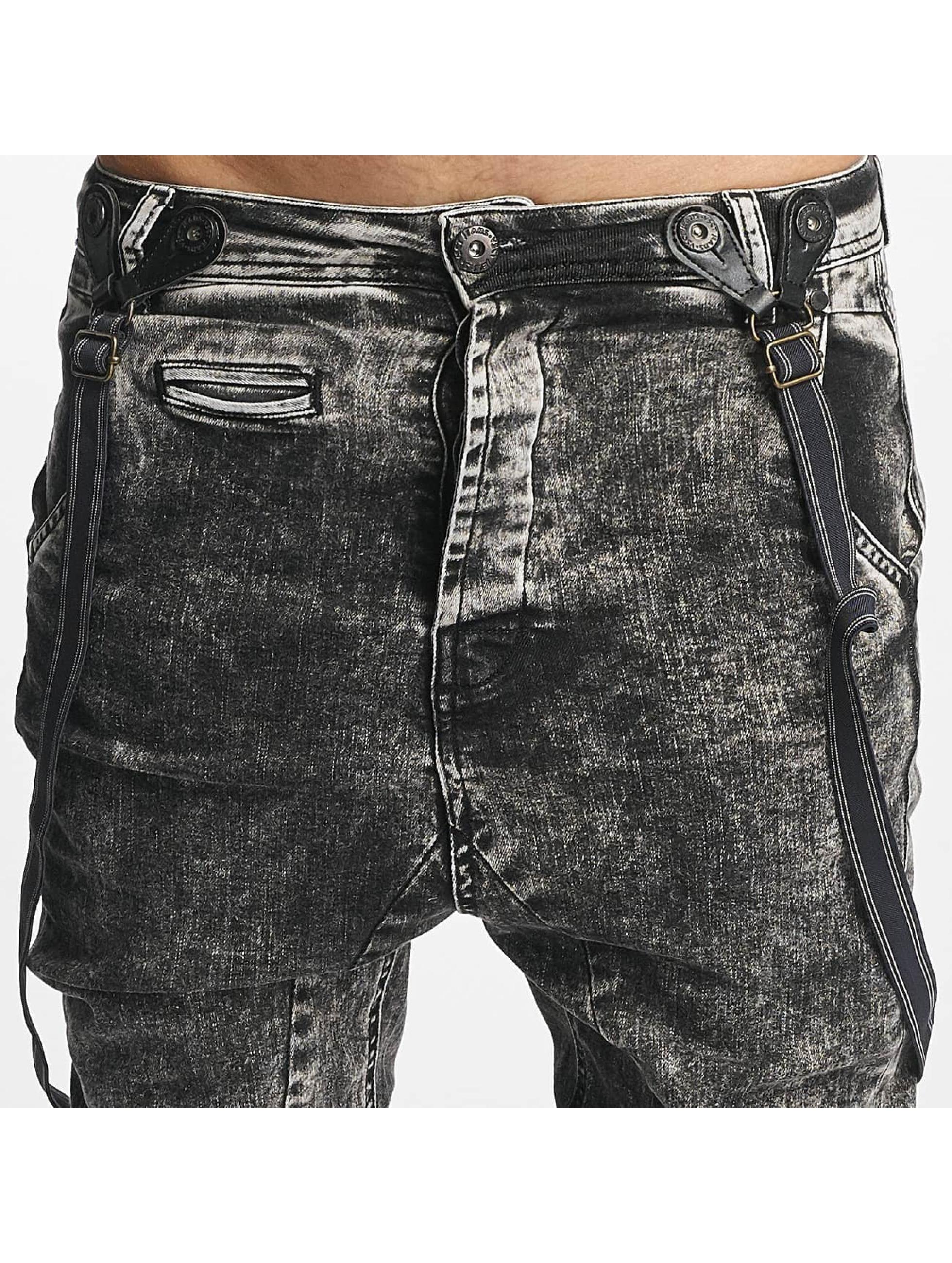 VSCT Clubwear Jean carotte antifit Brad with Suspenders noir
