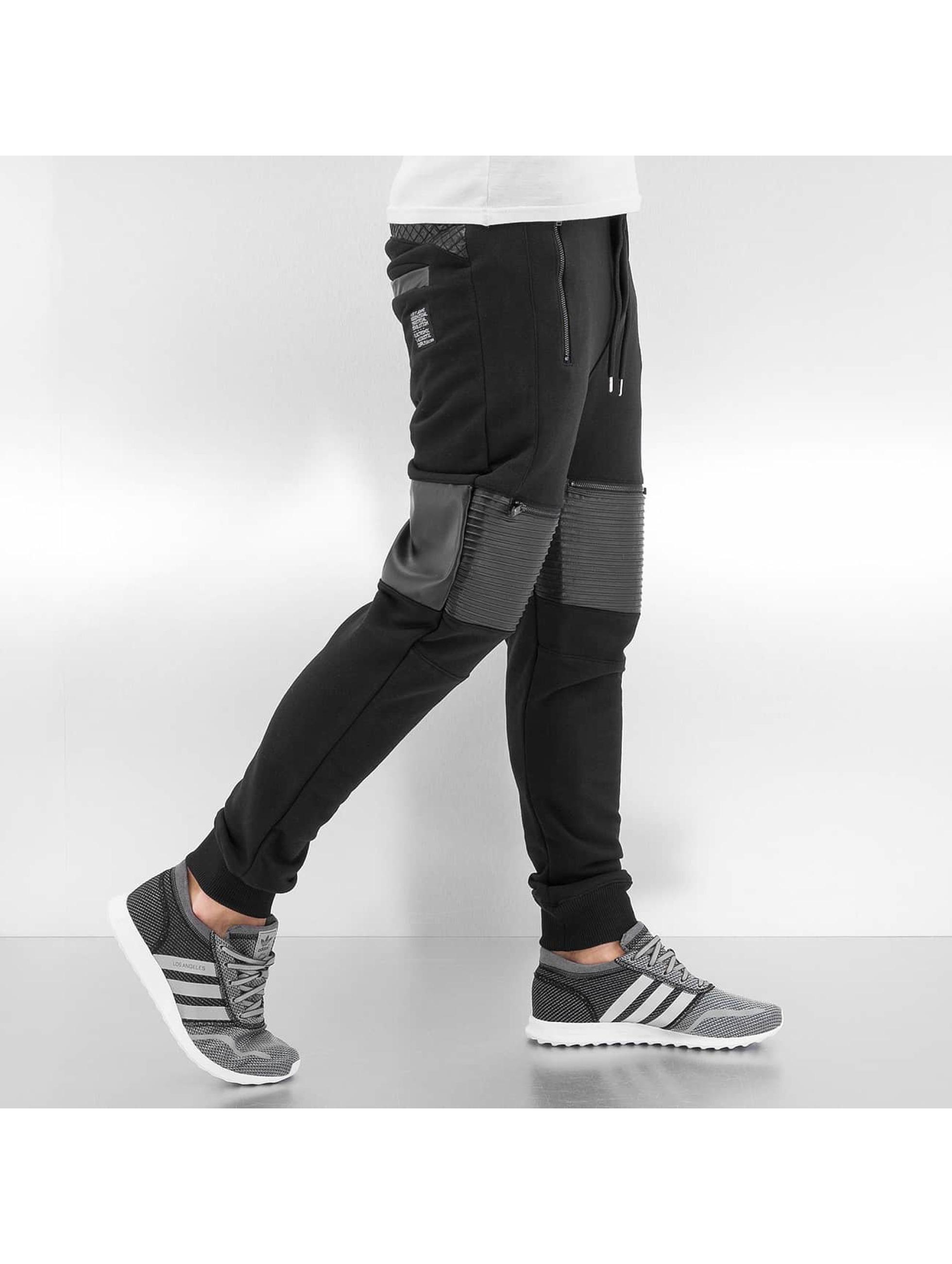 VSCT Clubwear Jogging BikerSweatPants noir
