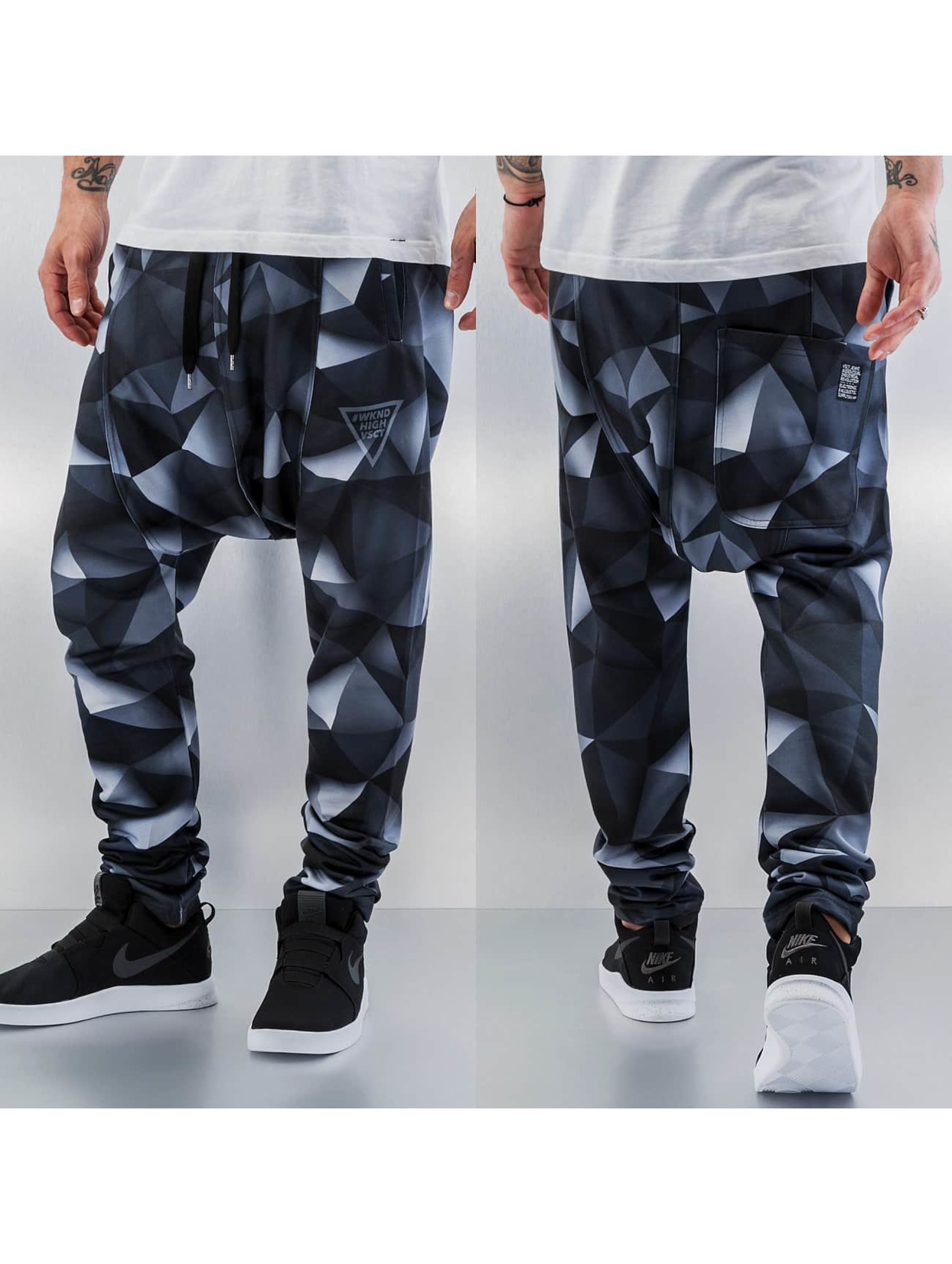 VSCT Clubwear joggingbroek 3-D Black Geomatrix zwart