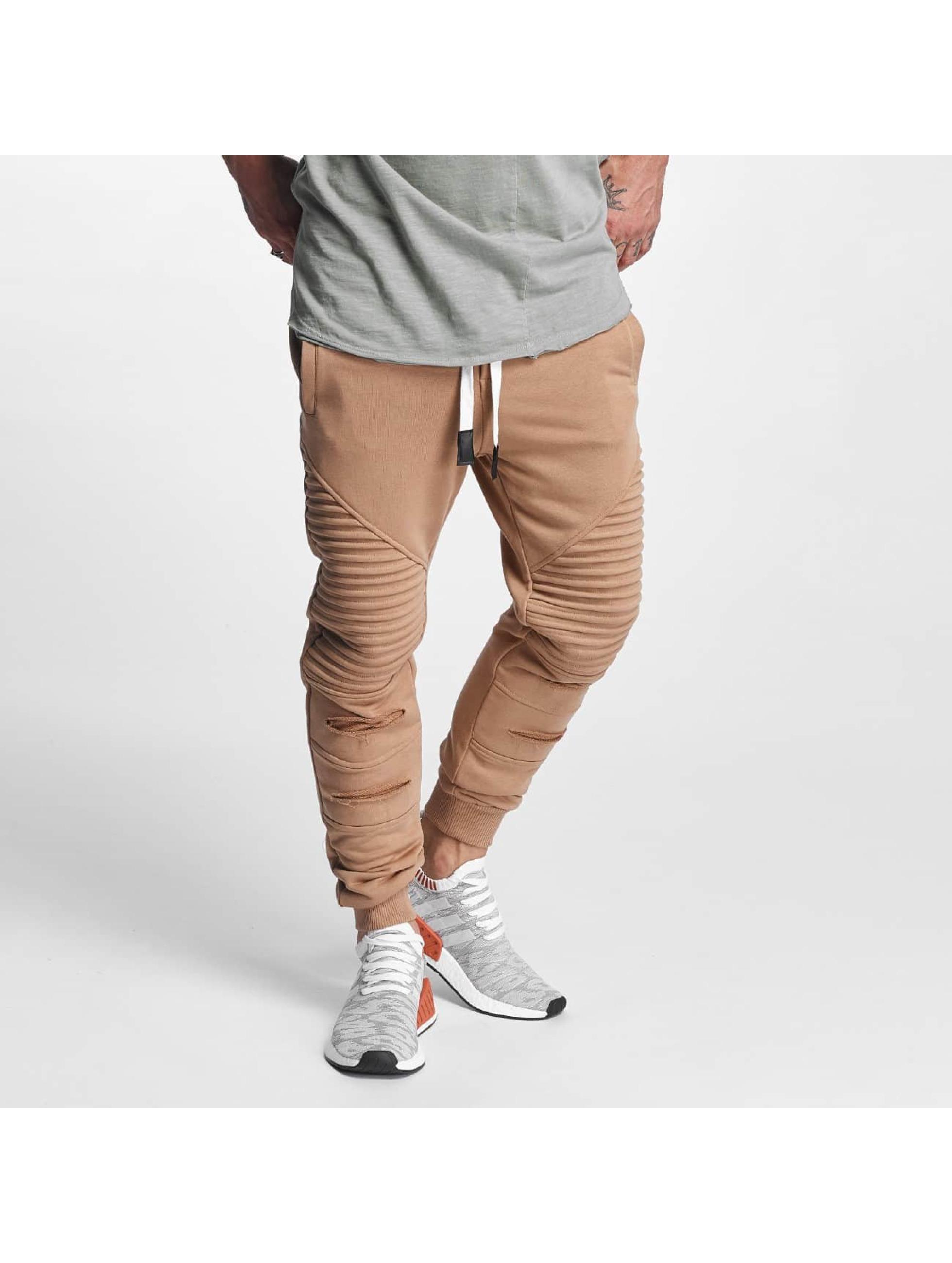 VSCT Clubwear Jogginghose Destroyed Biker braun