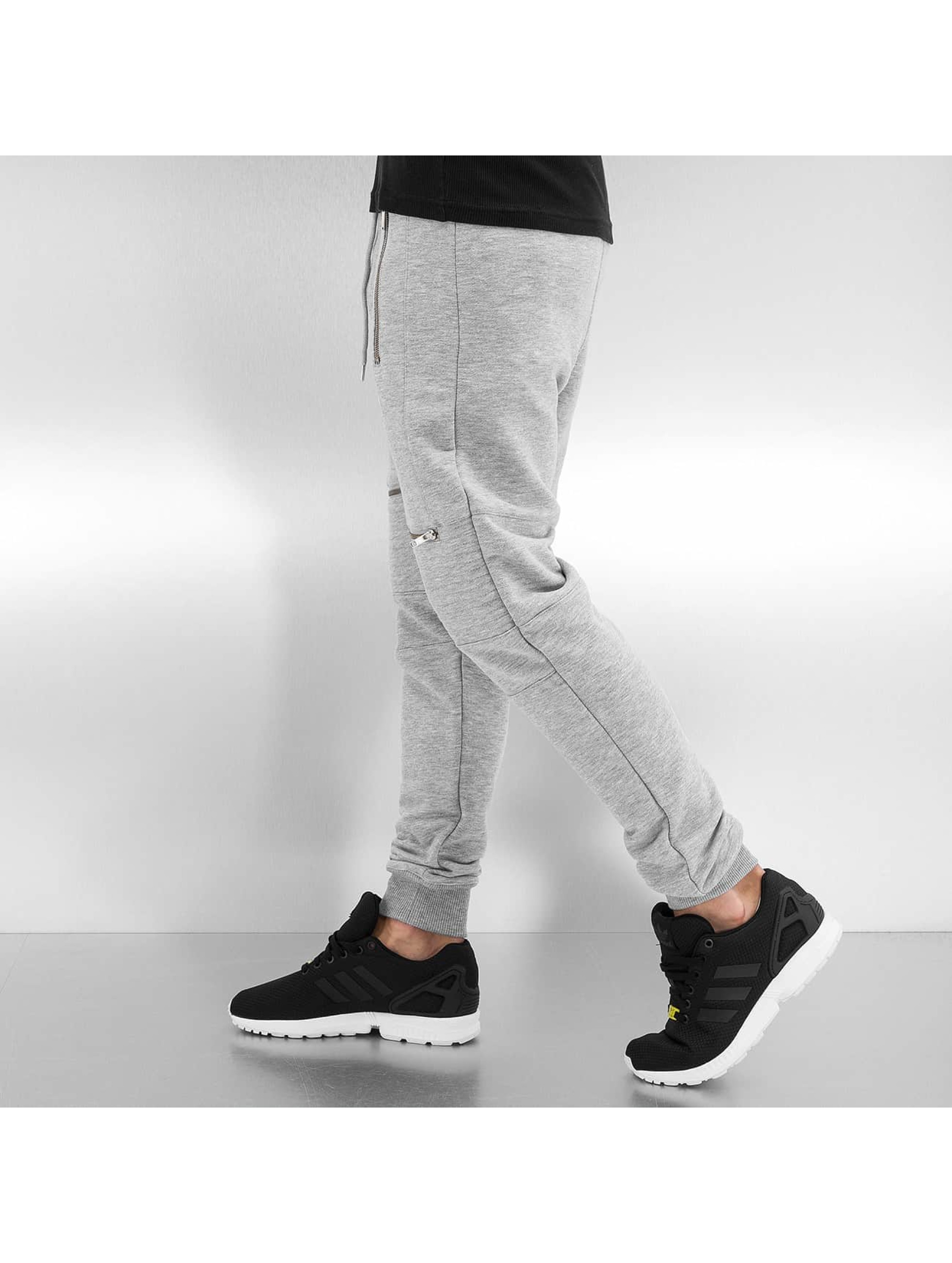 VSCT Clubwear Jogginghose Lowcrotch Biker grau