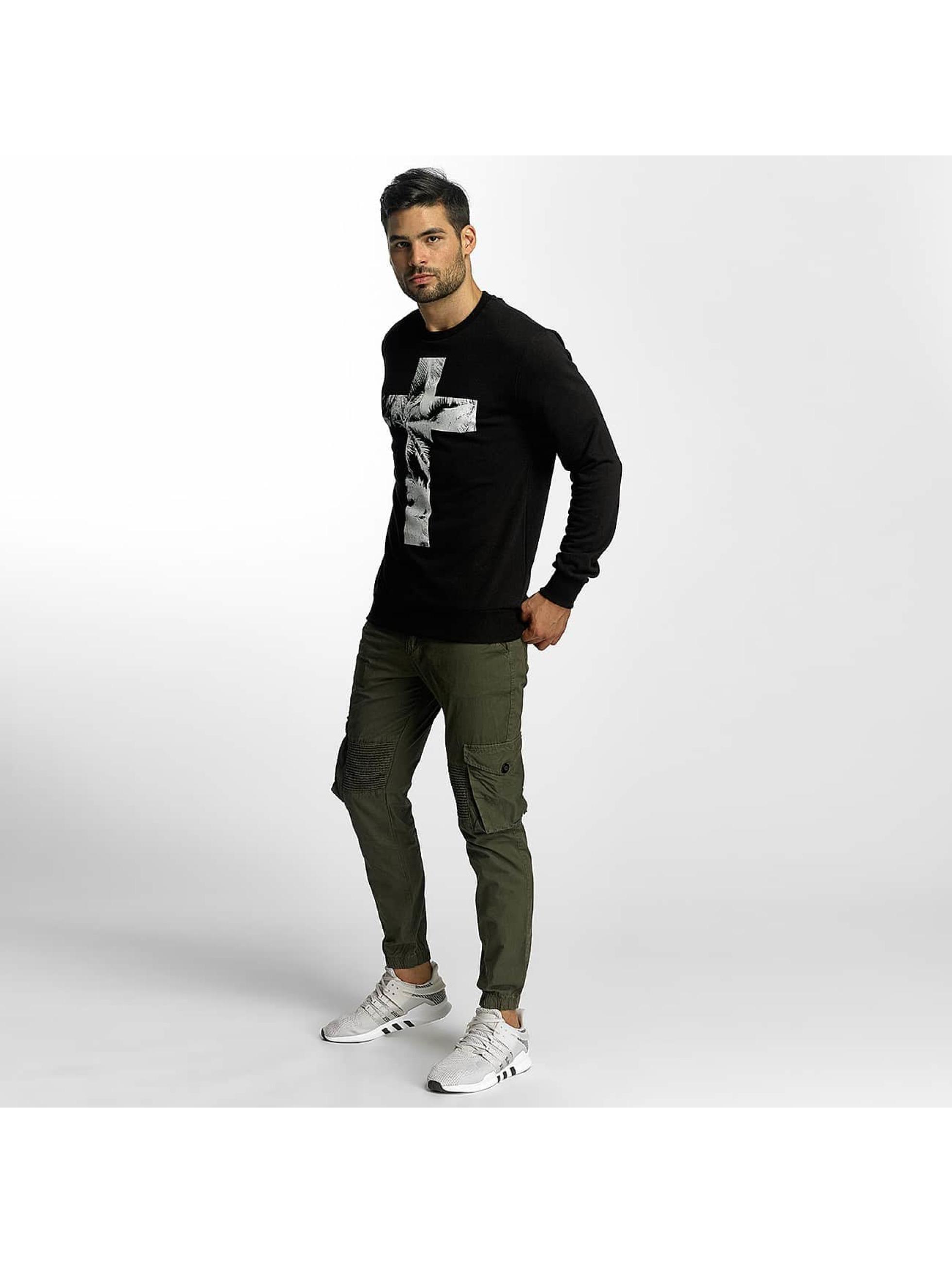 VSCT Clubwear Jumper Cross Palm Loose black