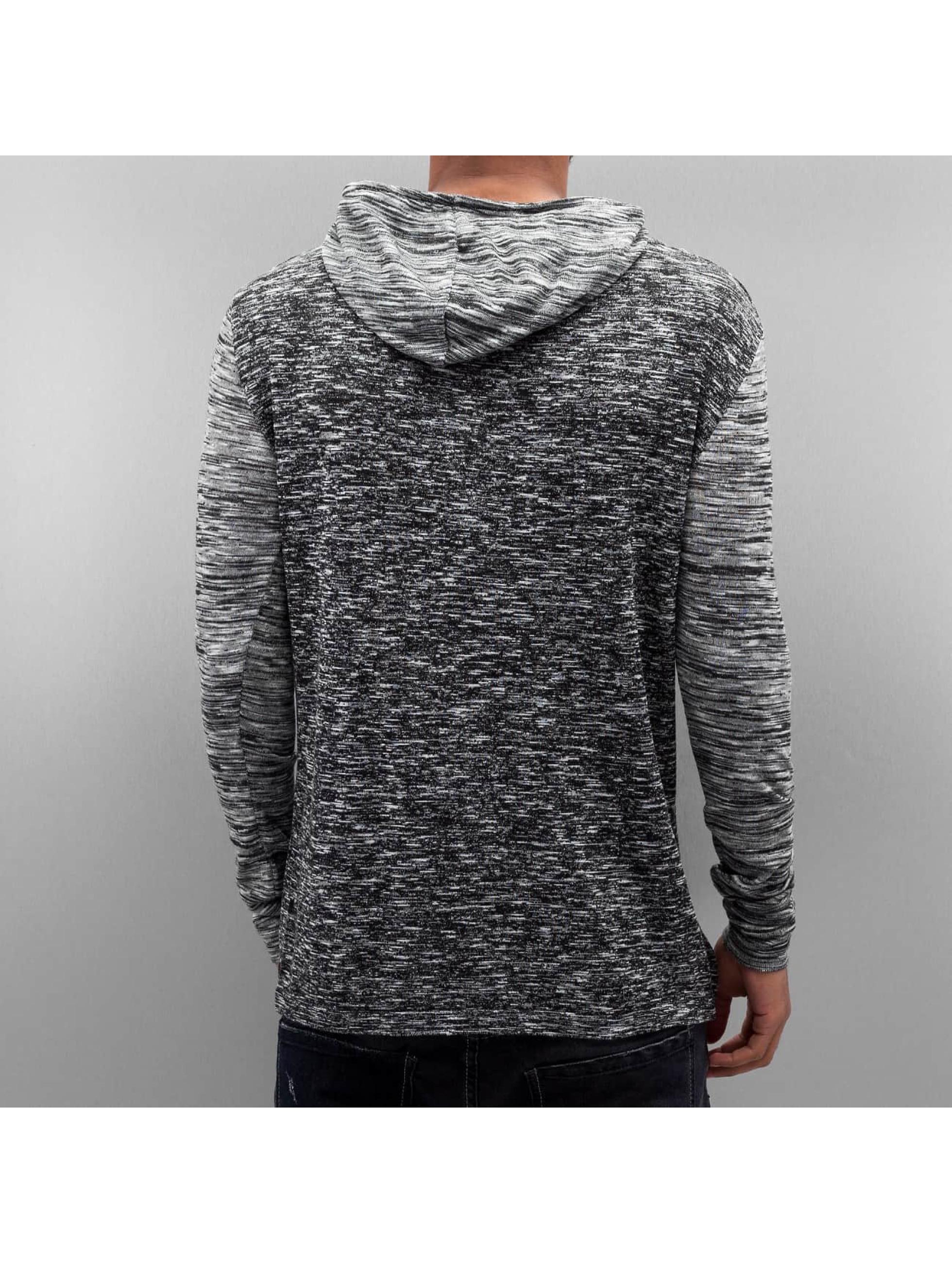 VSCT Clubwear Jumper 2 Btn Hooded Moulinee 2 Colour grey