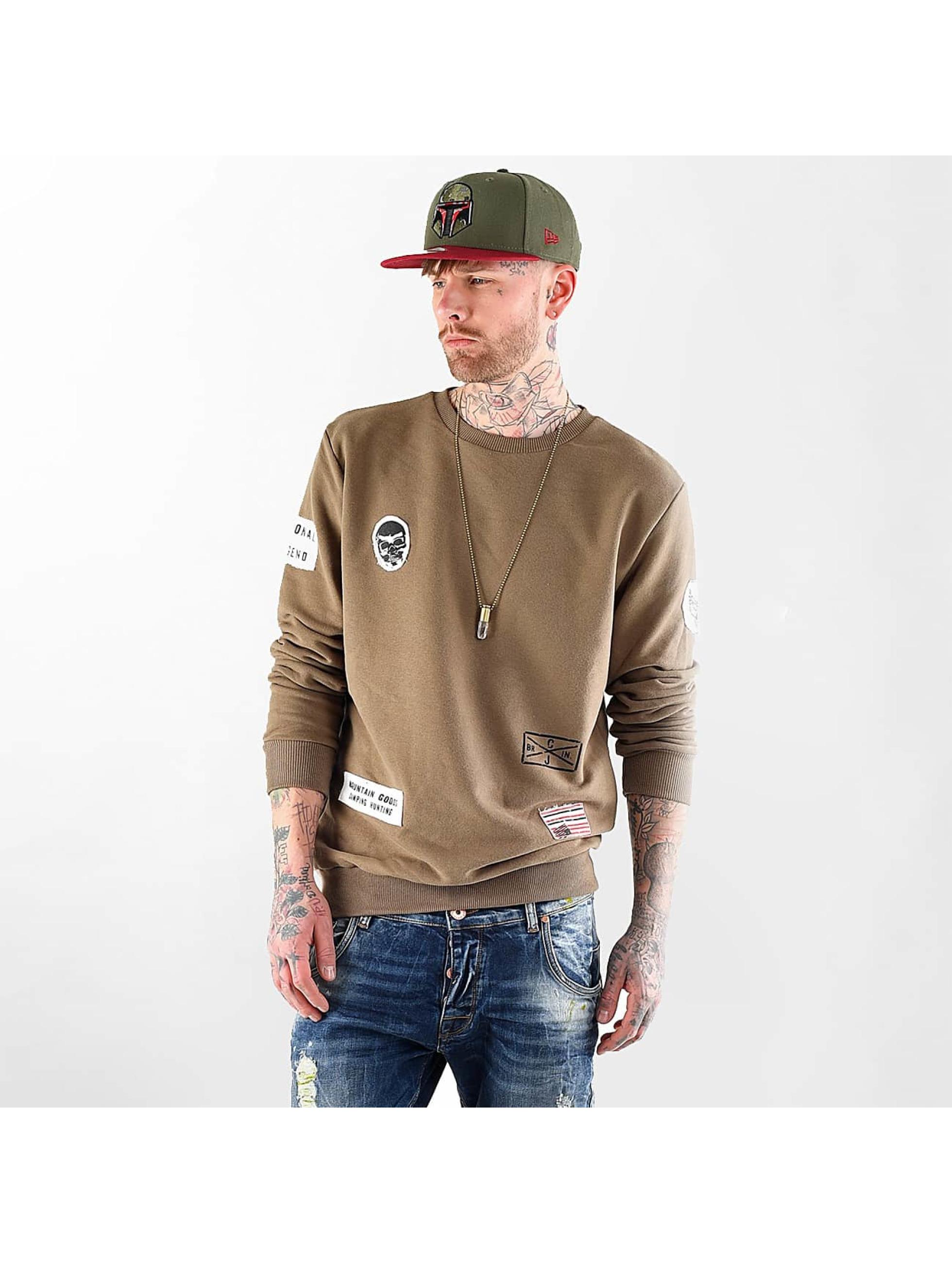 VSCT Clubwear Jumper Customized Patch Crew khaki