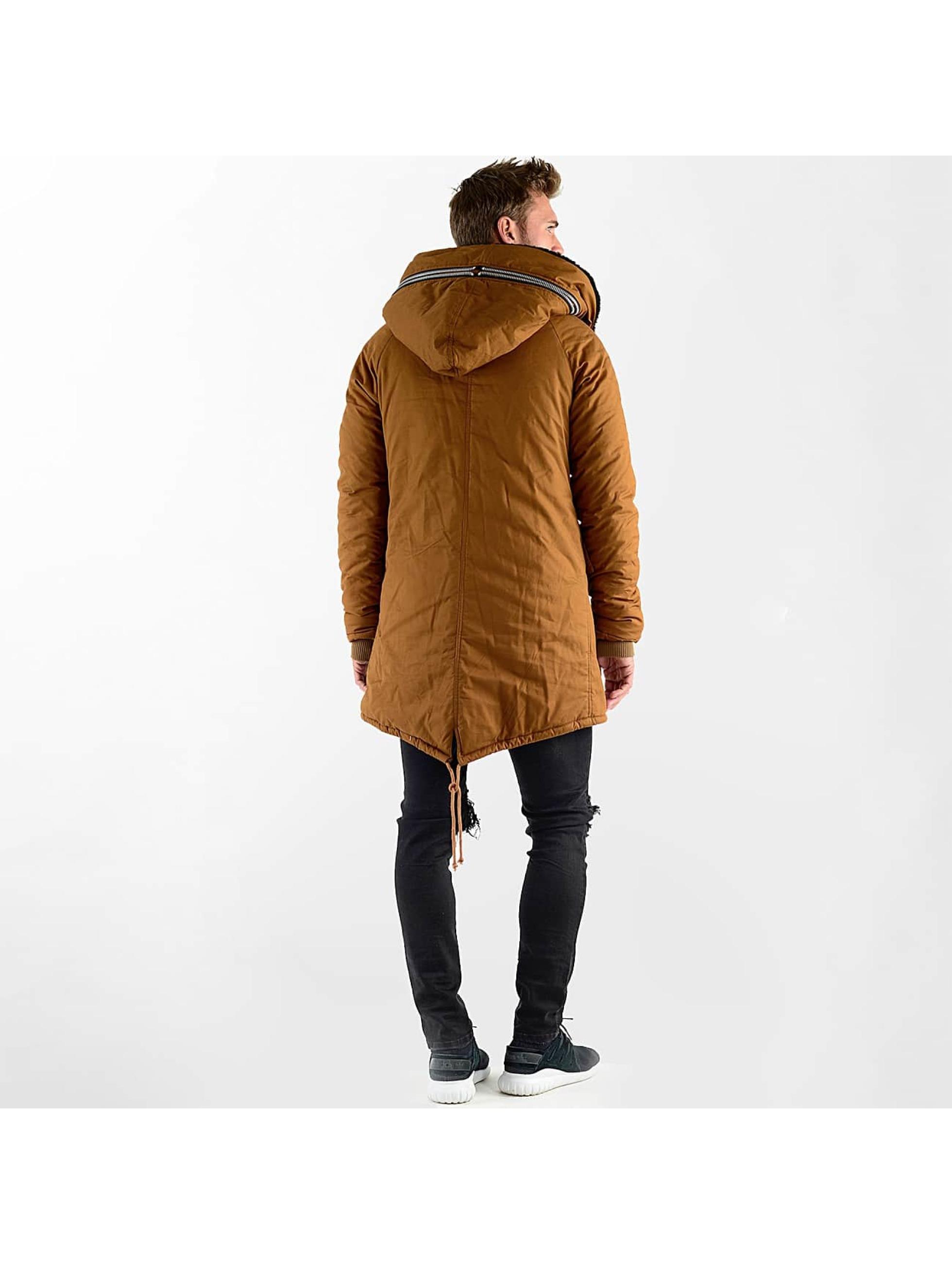 VSCT Clubwear Kurtki zimowe Double-Zipper Huge Luxury Sherpa brazowy