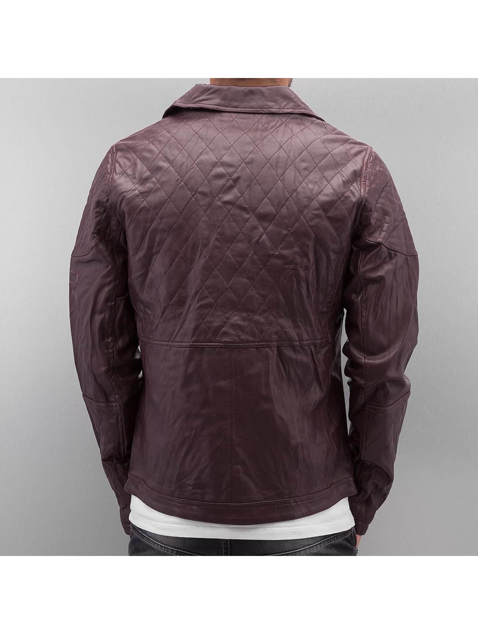 VSCT Clubwear Lederjacke Biker Leather rot