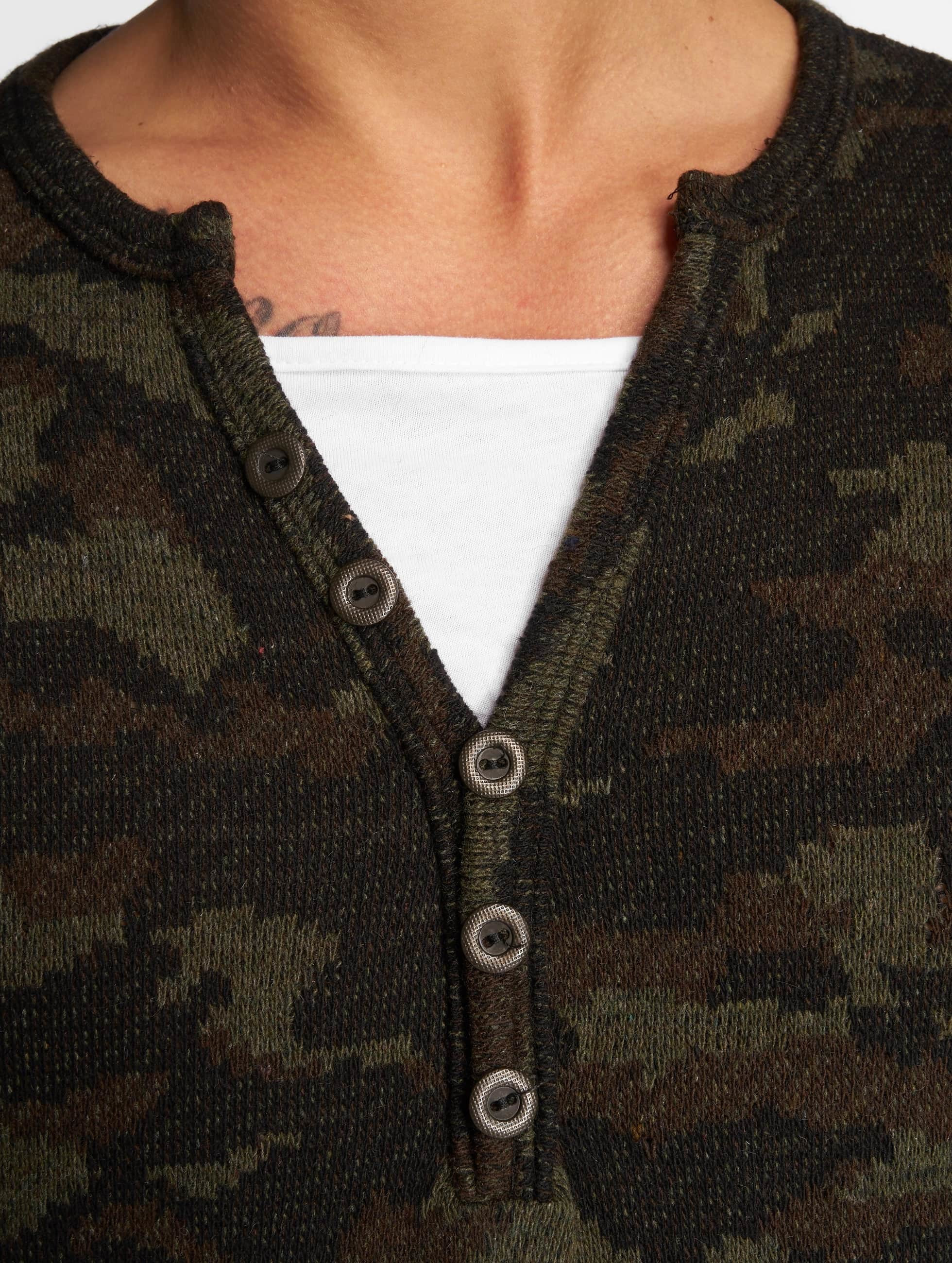 VSCT Clubwear Longsleeves Buttoned Double Optic moro