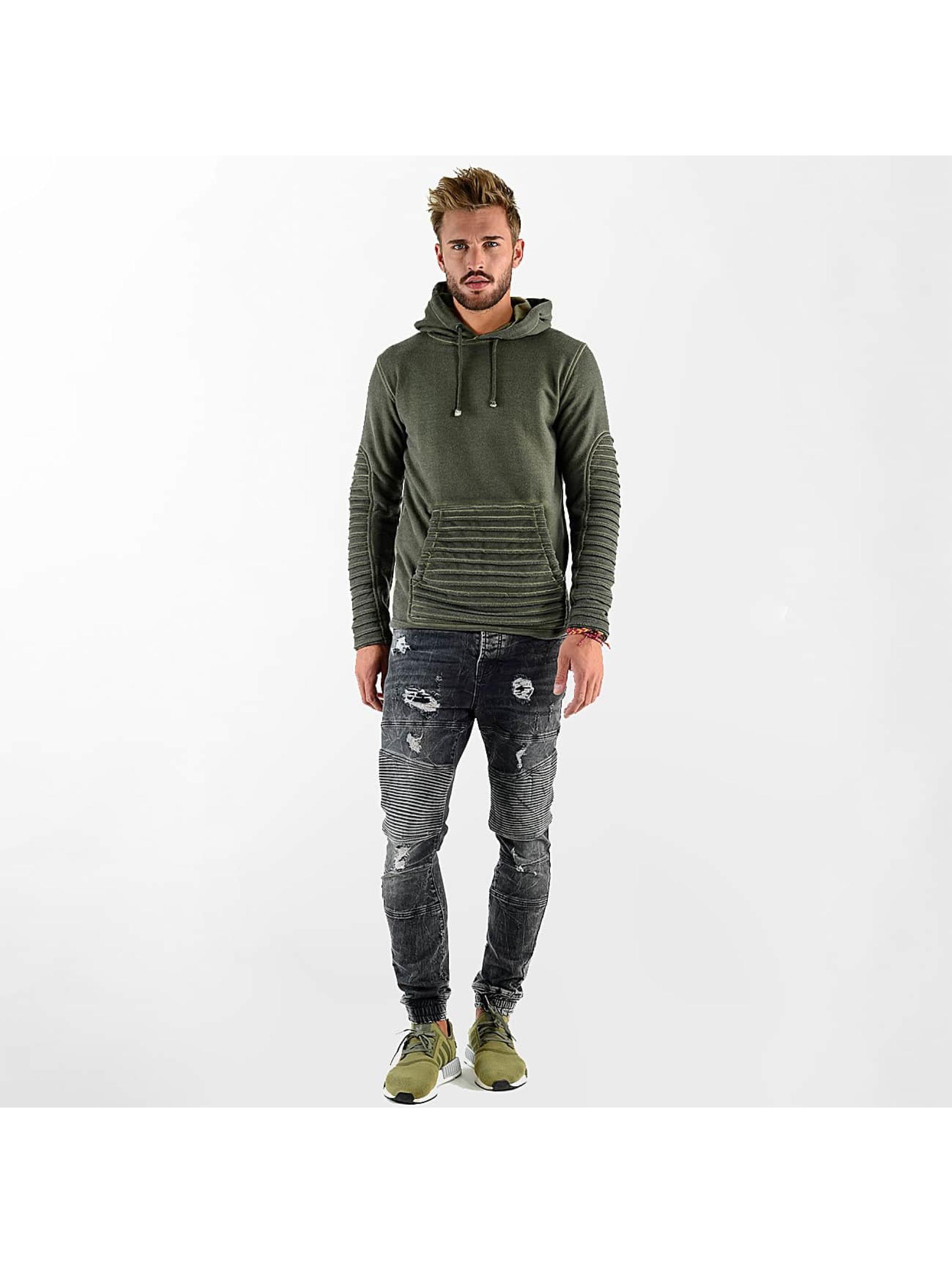 VSCT Clubwear Mikiny Biker Oilwash kaki