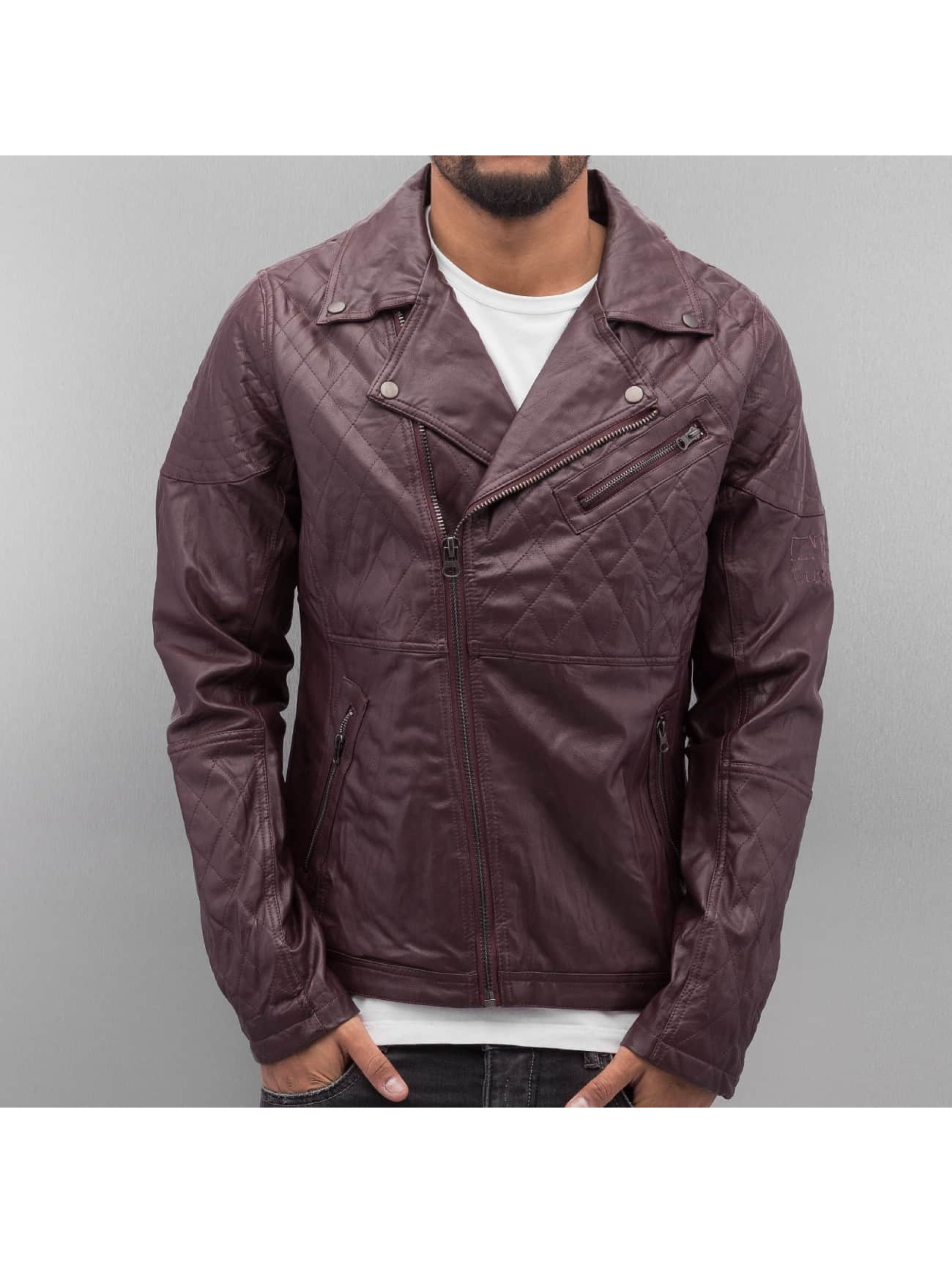 VSCT Clubwear Nahkatakit Biker Leather punainen