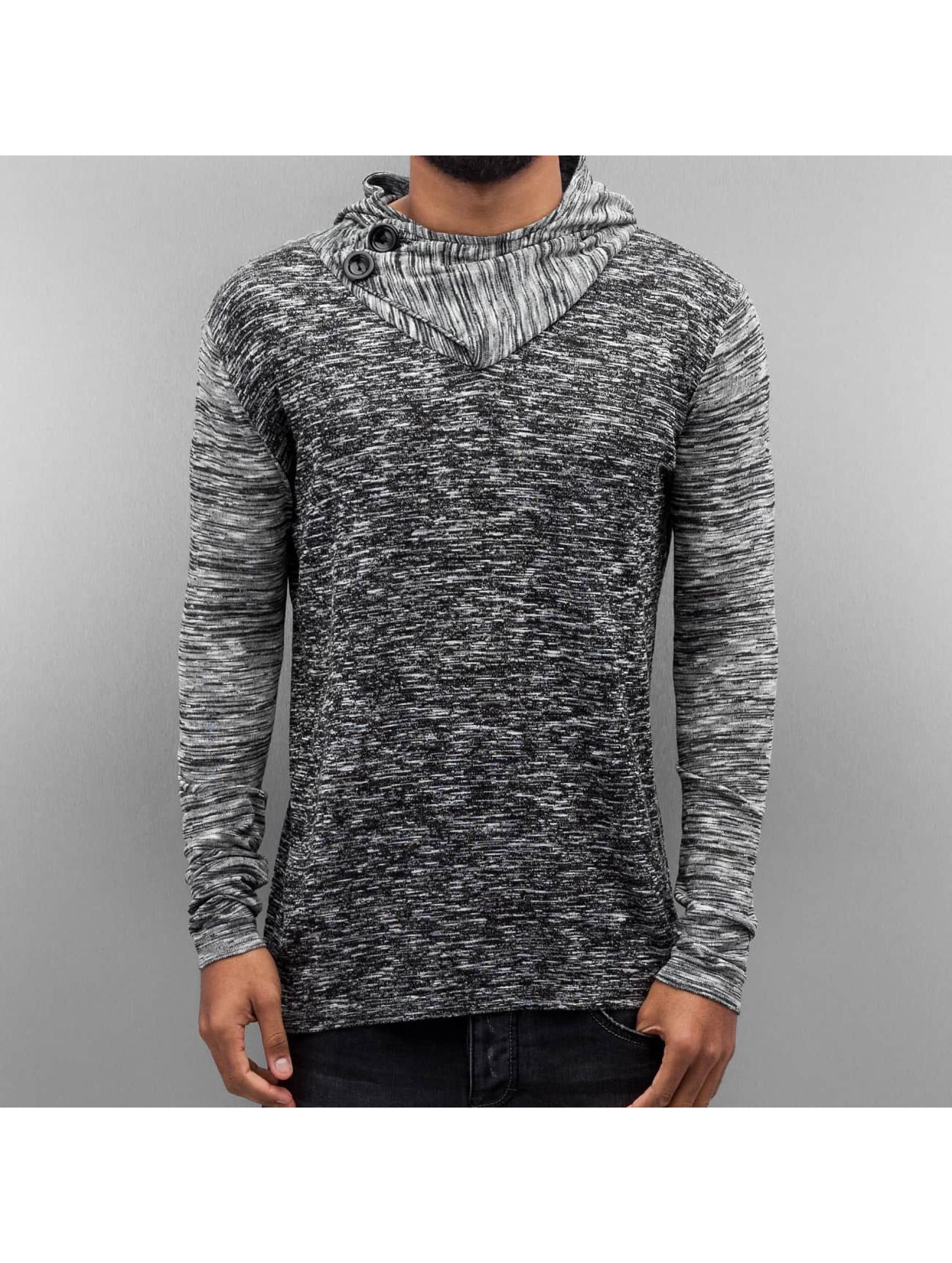 VSCT Clubwear Pullover 2 Btn Hooded Moulinee 2 Colour grau