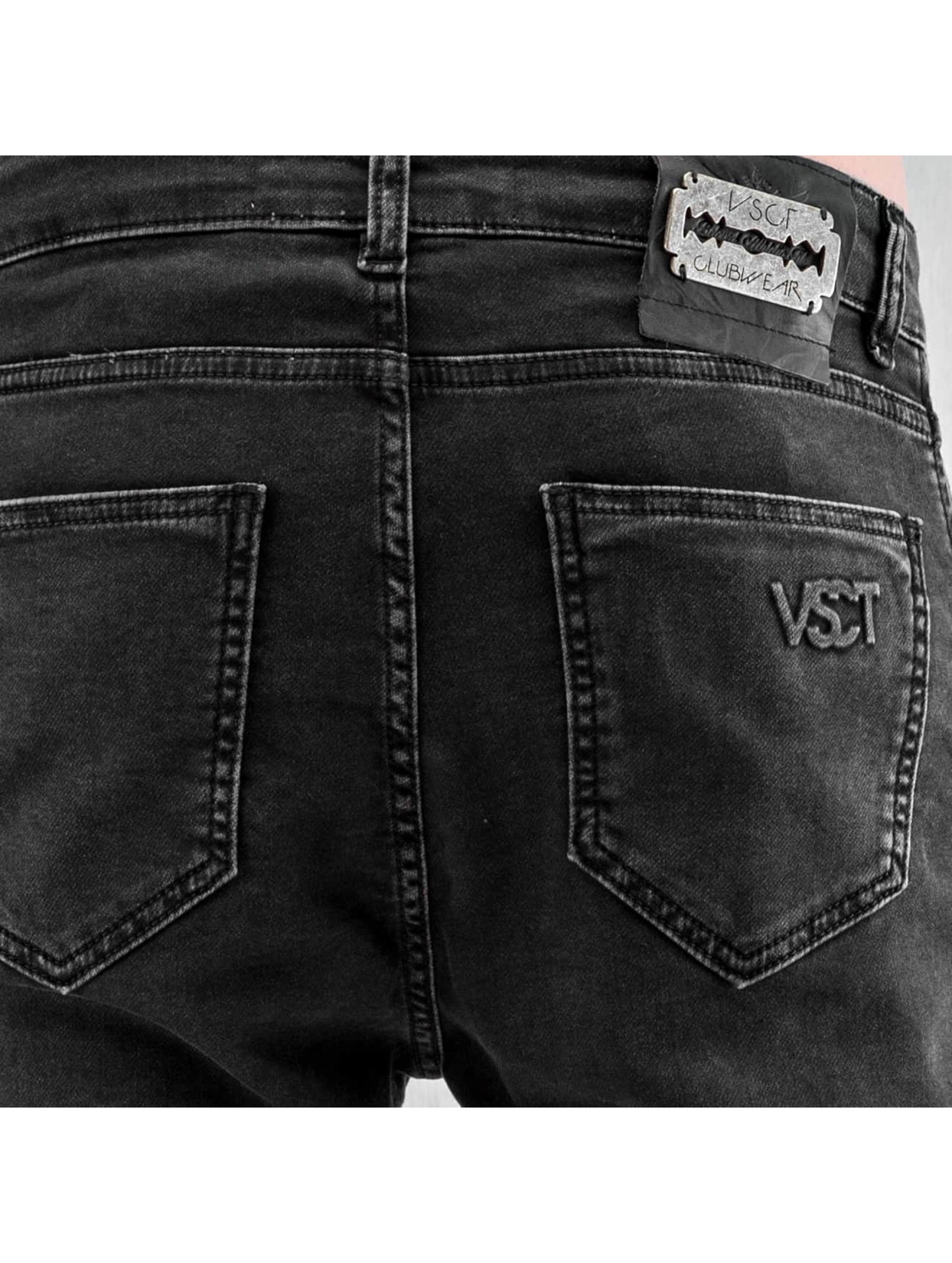 VSCT Clubwear Skinny Jeans Neo Cuffed czarny