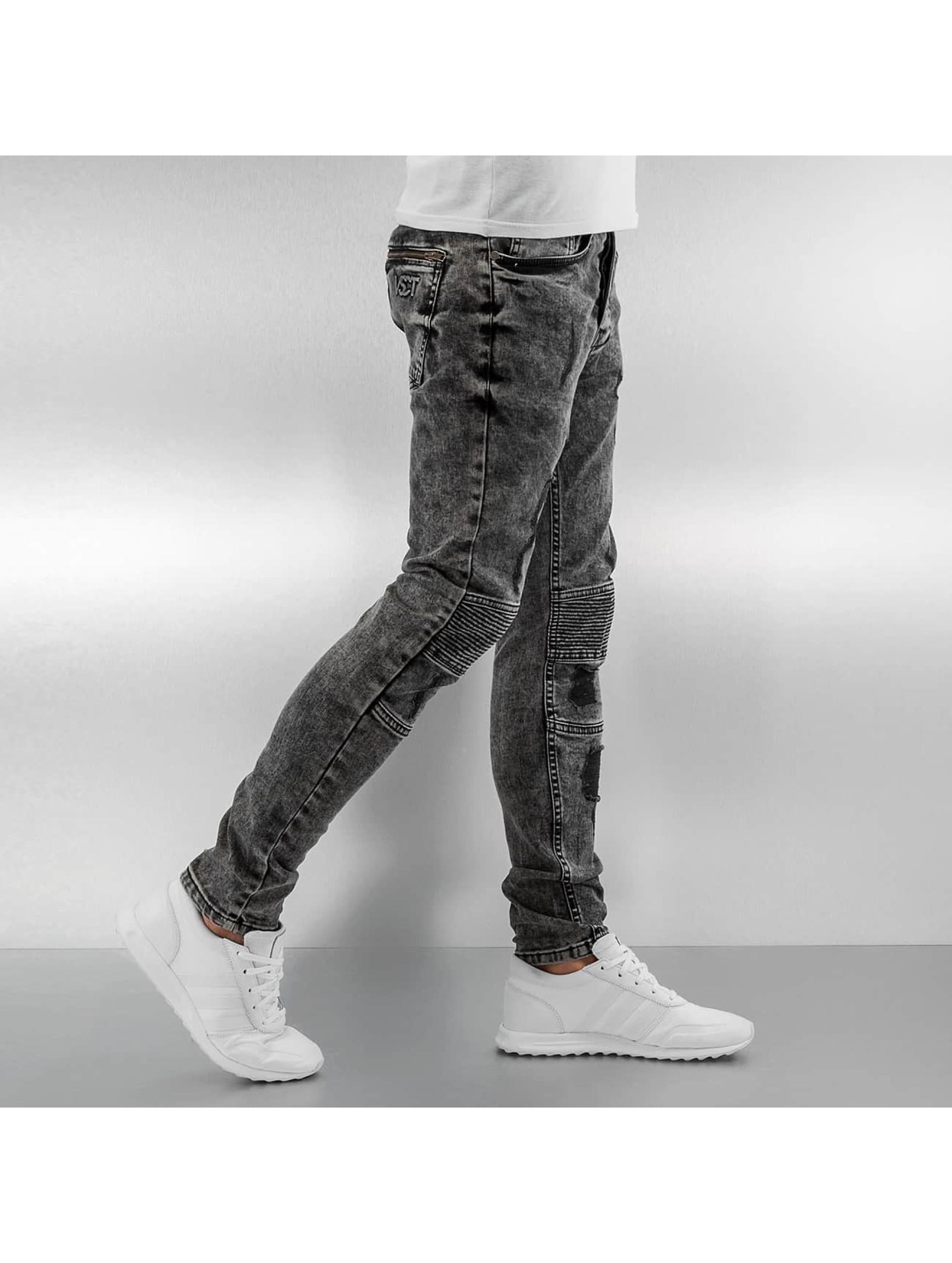 VSCT Clubwear Skinny jeans Lazer Racer svart