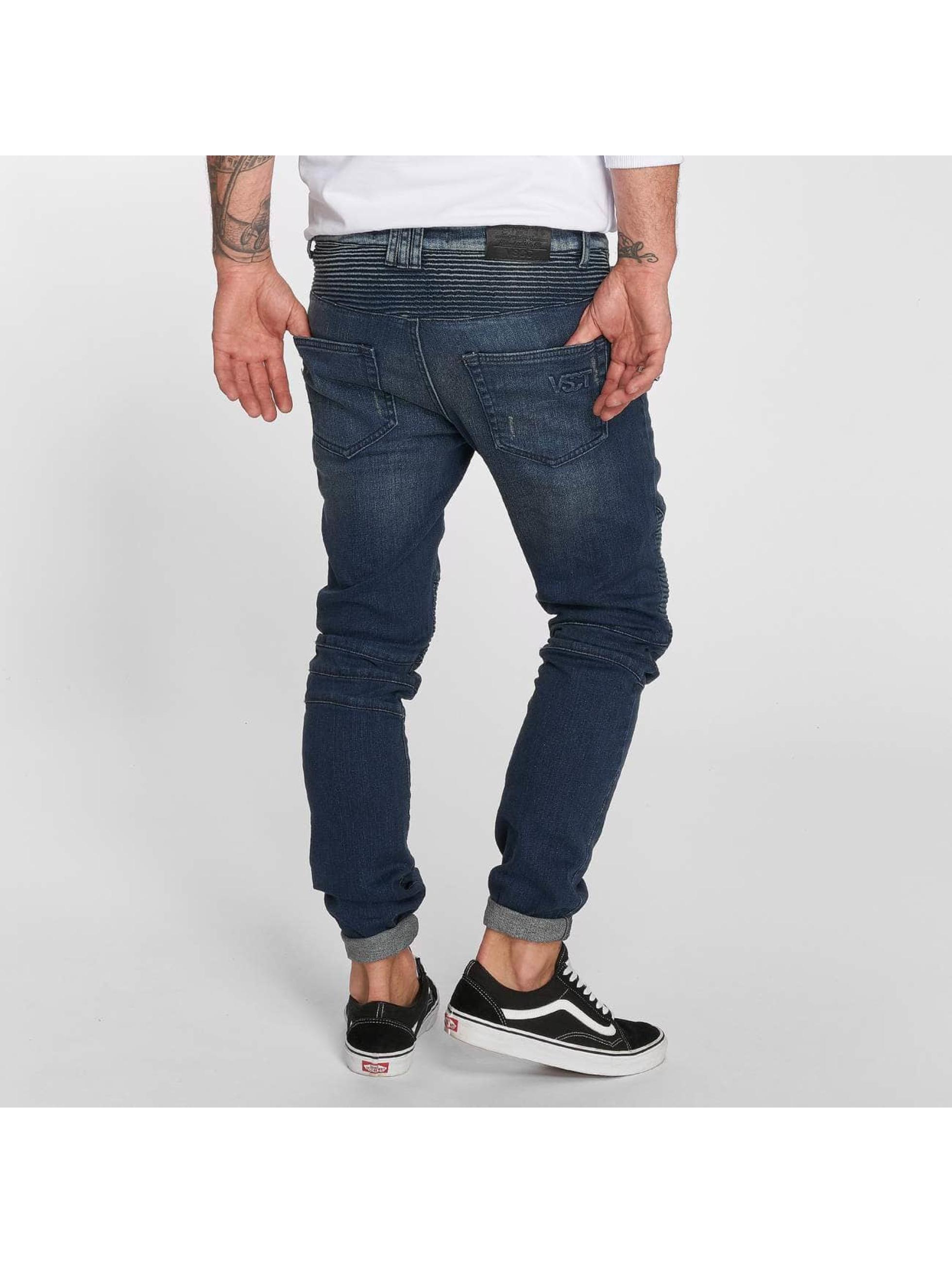 VSCT Clubwear Slim Fit Jeans Liam Biker blå