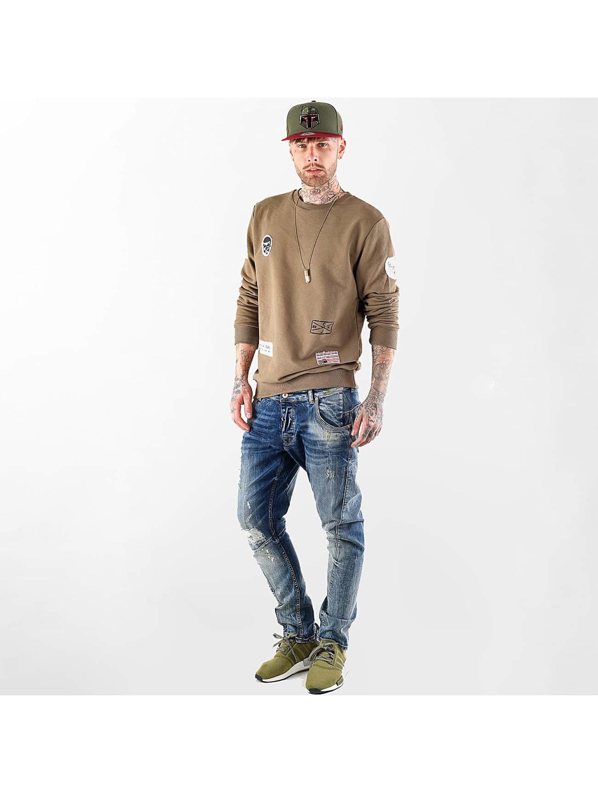 VSCT Clubwear Sweat & Pull Customized Patch Crew kaki