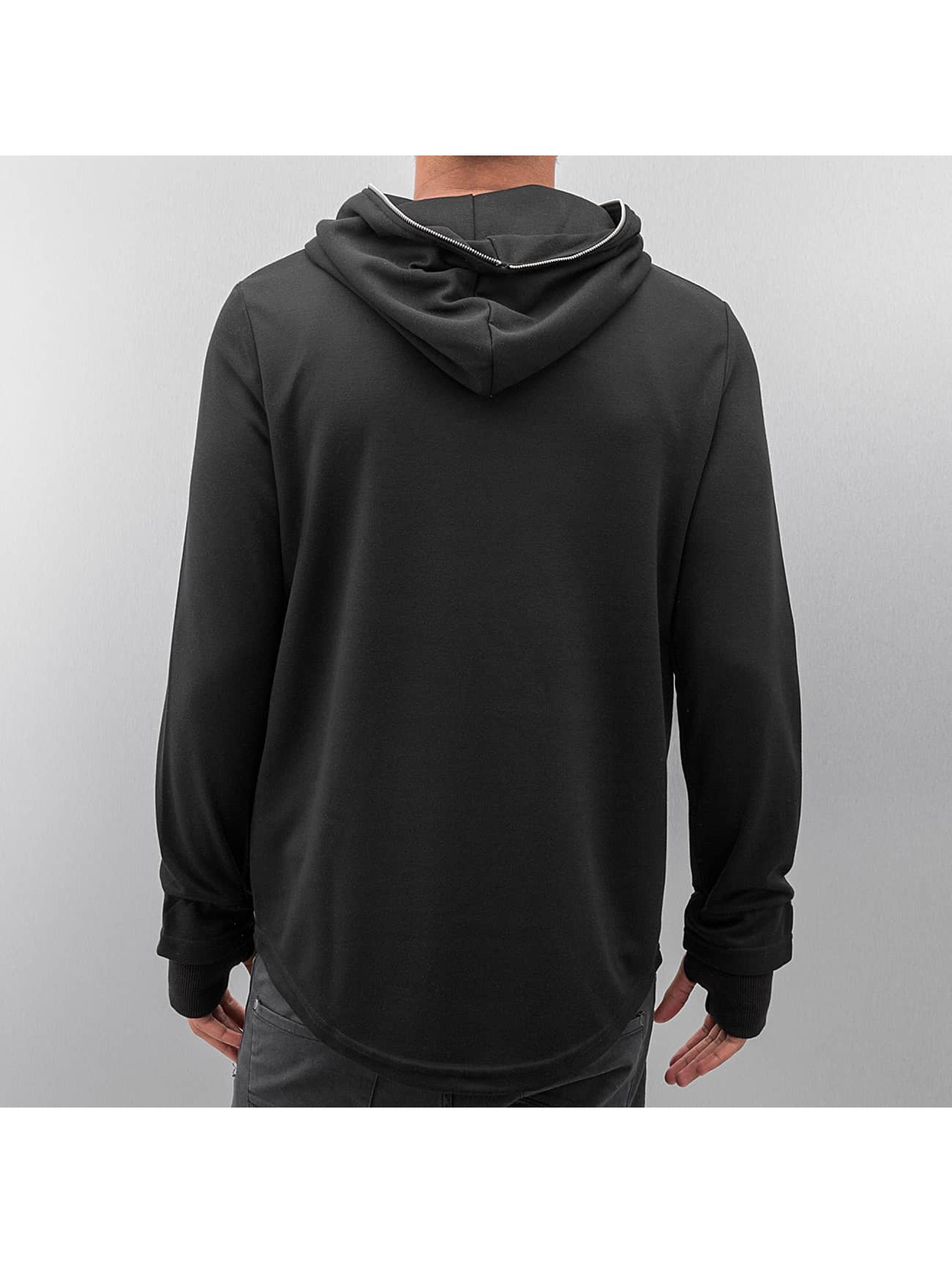 VSCT Clubwear Sweat capuche Zip Collar noir