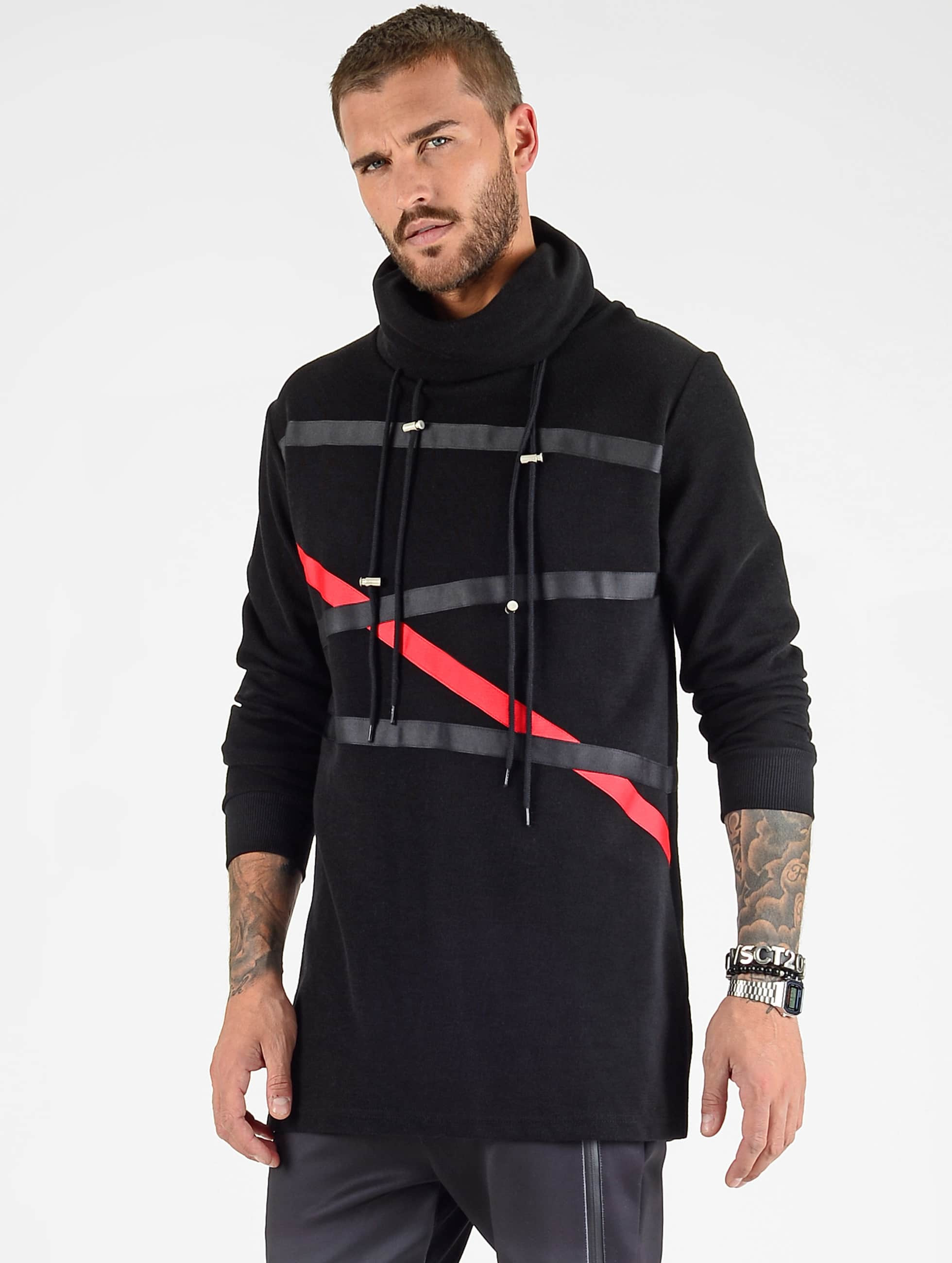 VSCT Clubwear Tape Hoodie Black