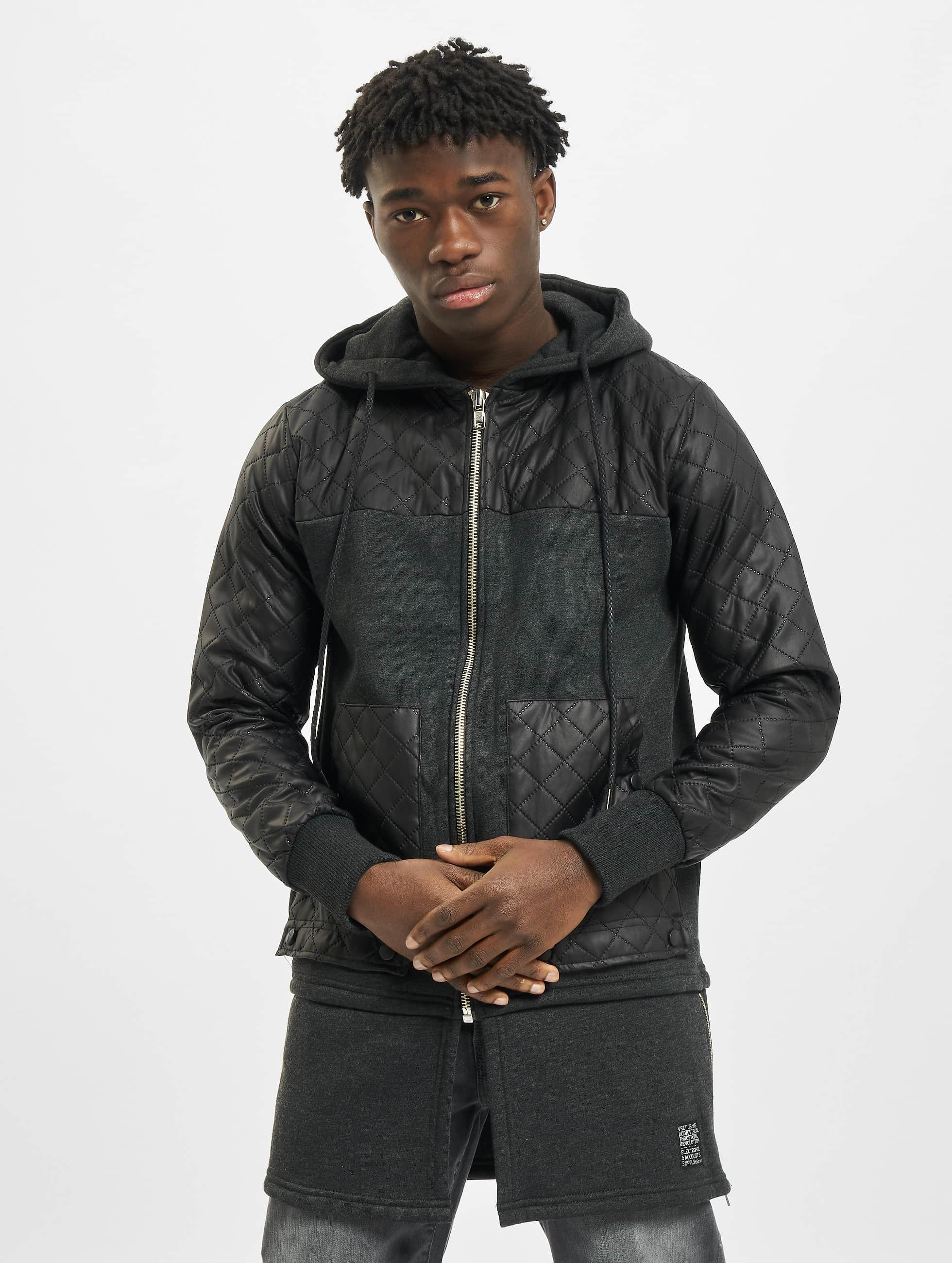 VSCT Clubwear Sweat capuche zippé Elite Long gris