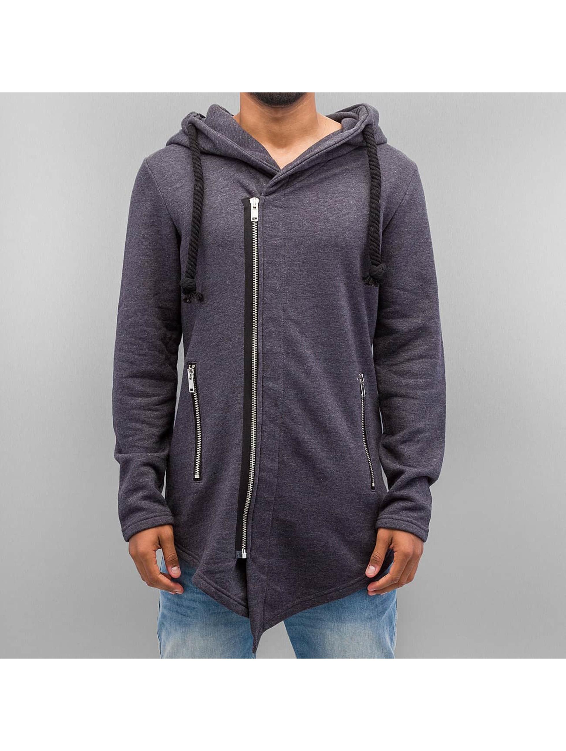 VSCT Clubwear Sweatvest Hooded Luxury Asym Sweat grijs